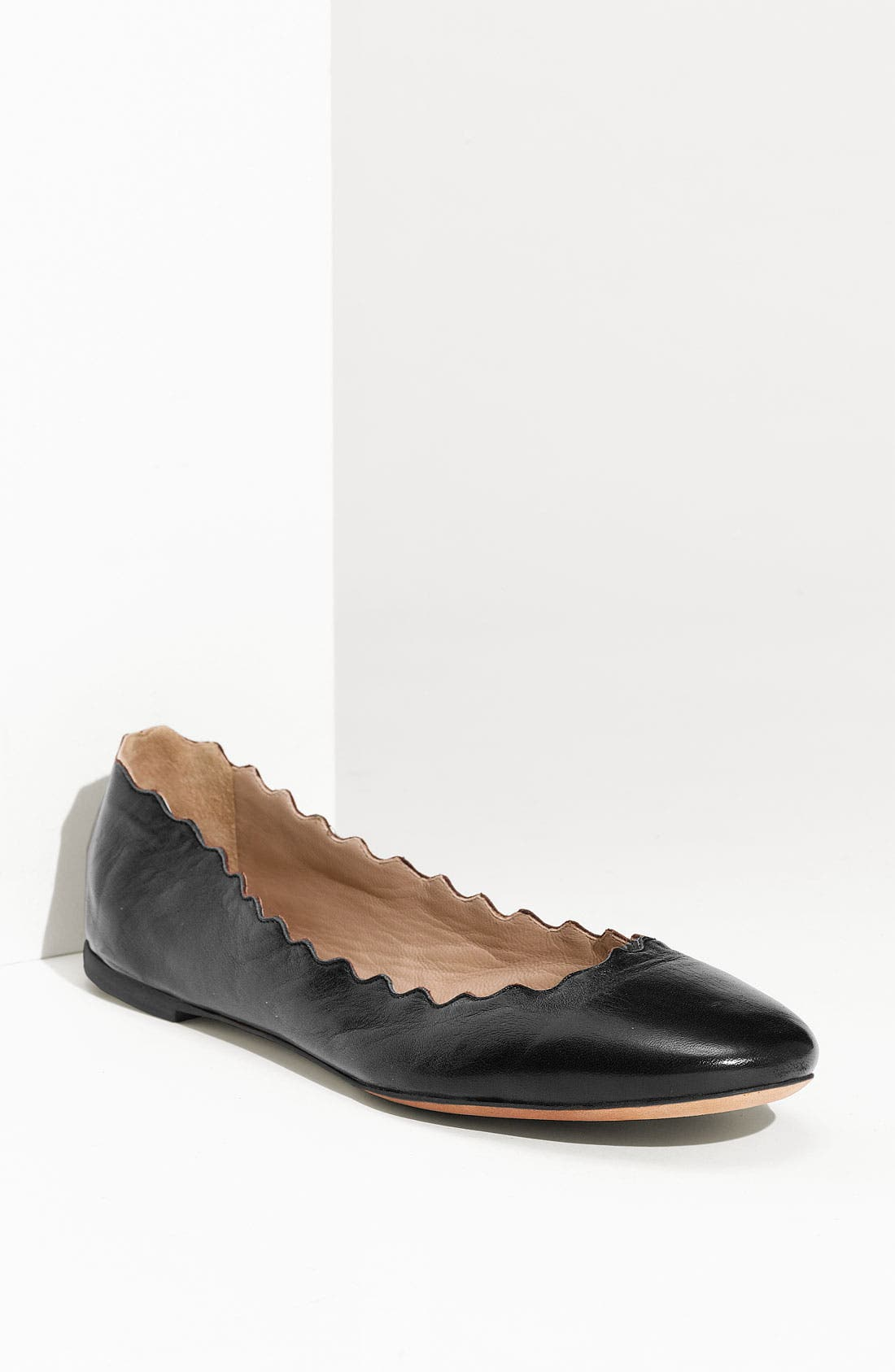 Alternate Image 1 Selected - Chloé Scalloped Ballet Flat