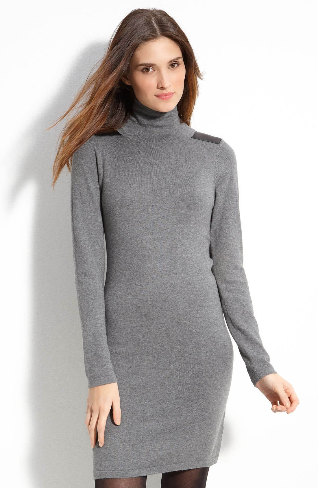 Alternate Image 1 Selected - Vince Camuto Mock Neck Sweater Dress