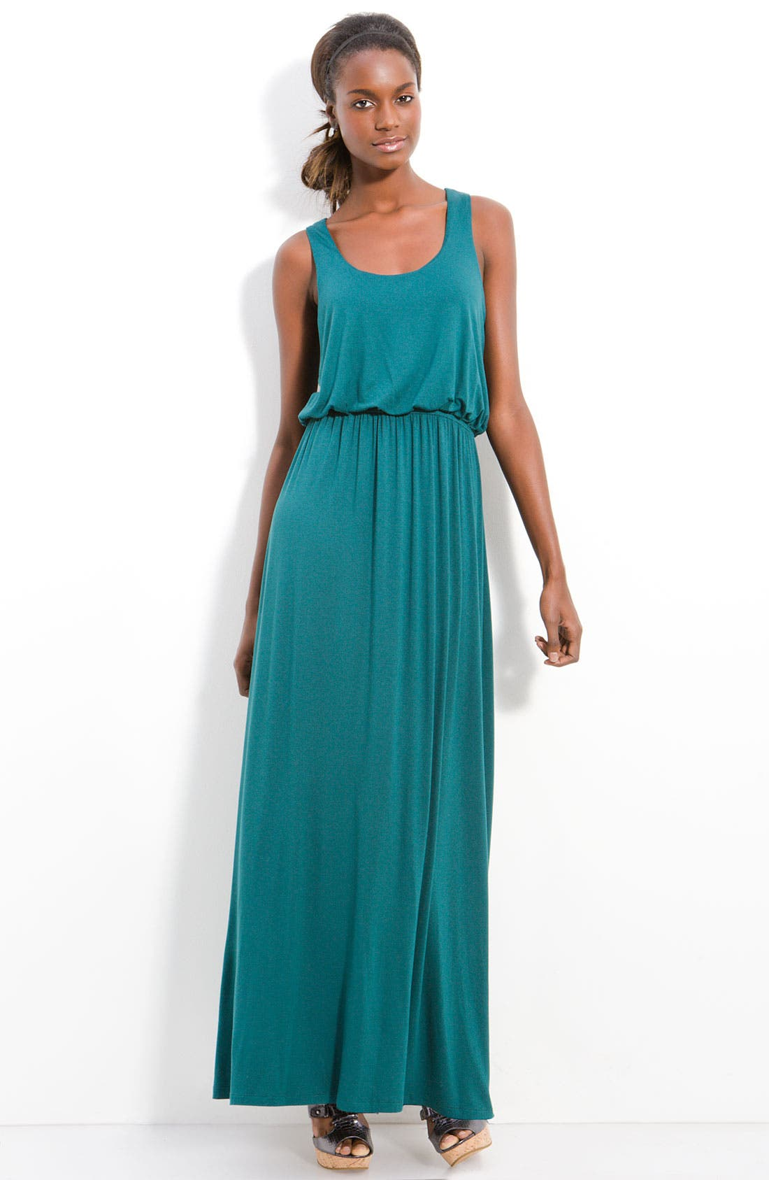 Alternate Image 1 Selected - Bobeau Racerback Maxi Dress