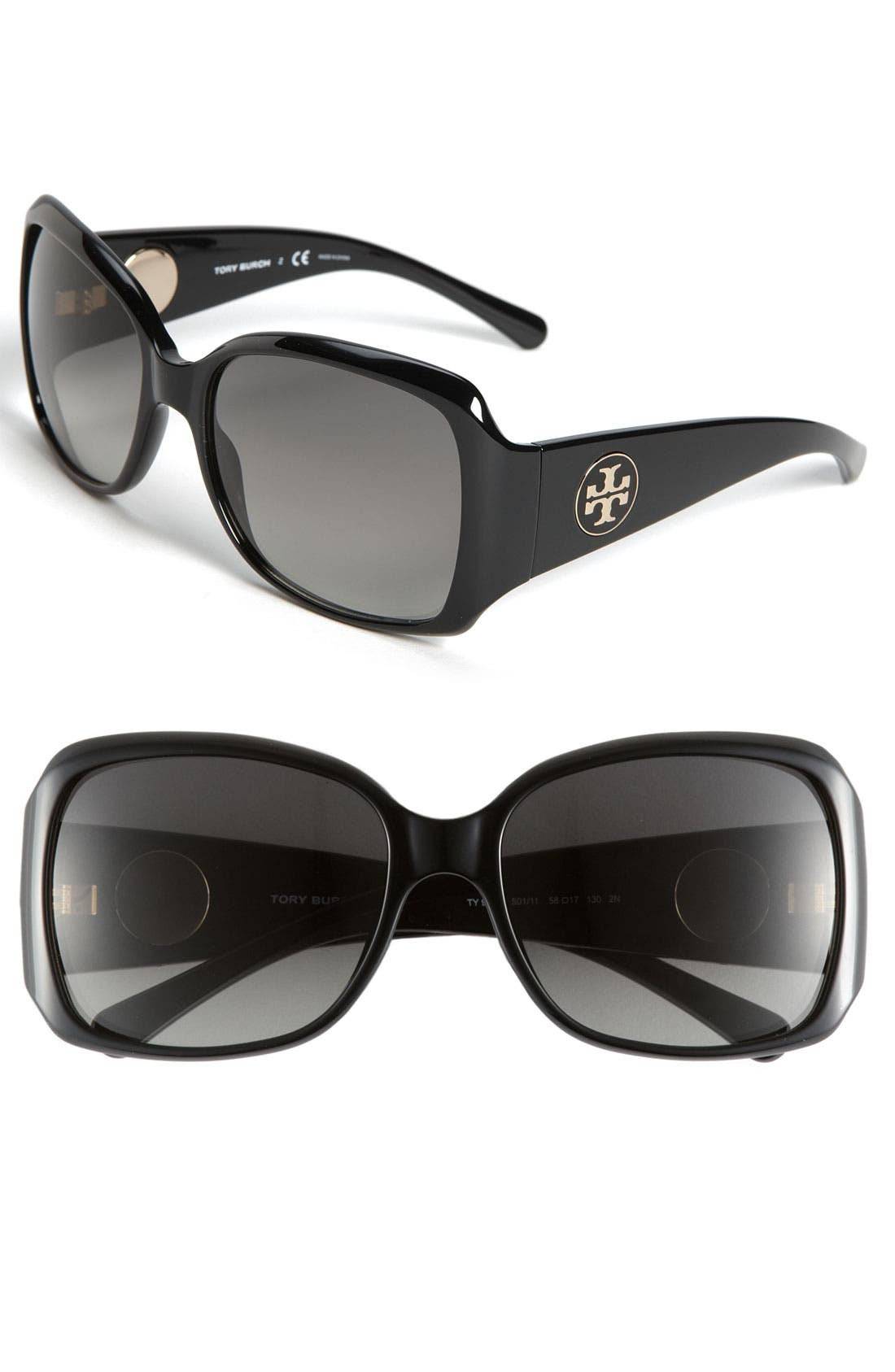 Alternate Image 1 Selected - Tory Burch 58mm Square Sunglasses