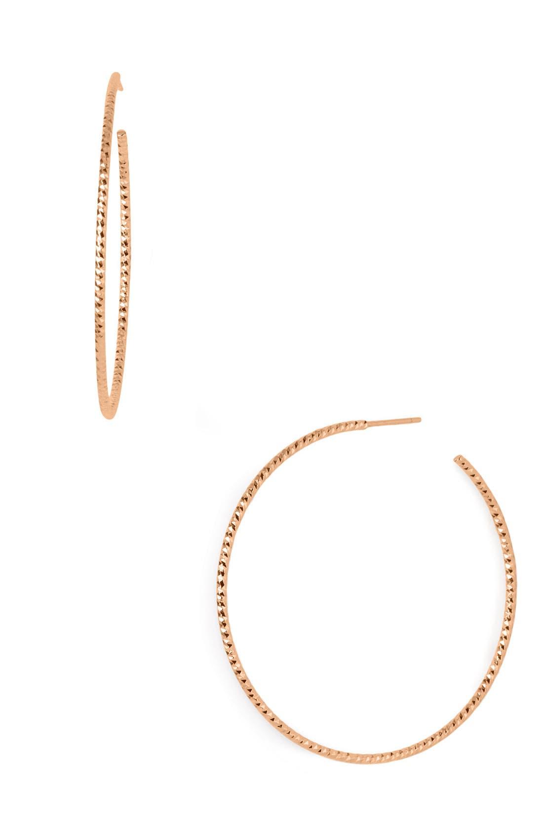 Main Image - Argento Vivo Hoop Earrings