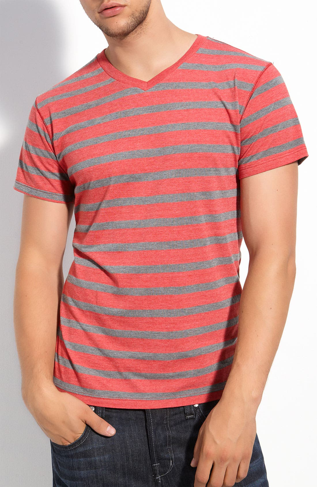 Alternate Image 1 Selected - Threads for Thought Trim Fit V-Neck T-Shirt