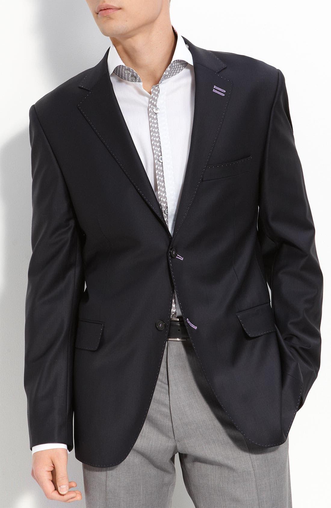 Alternate Image 1 Selected - Bogosse Regular Fit Stretch Wool Blazer