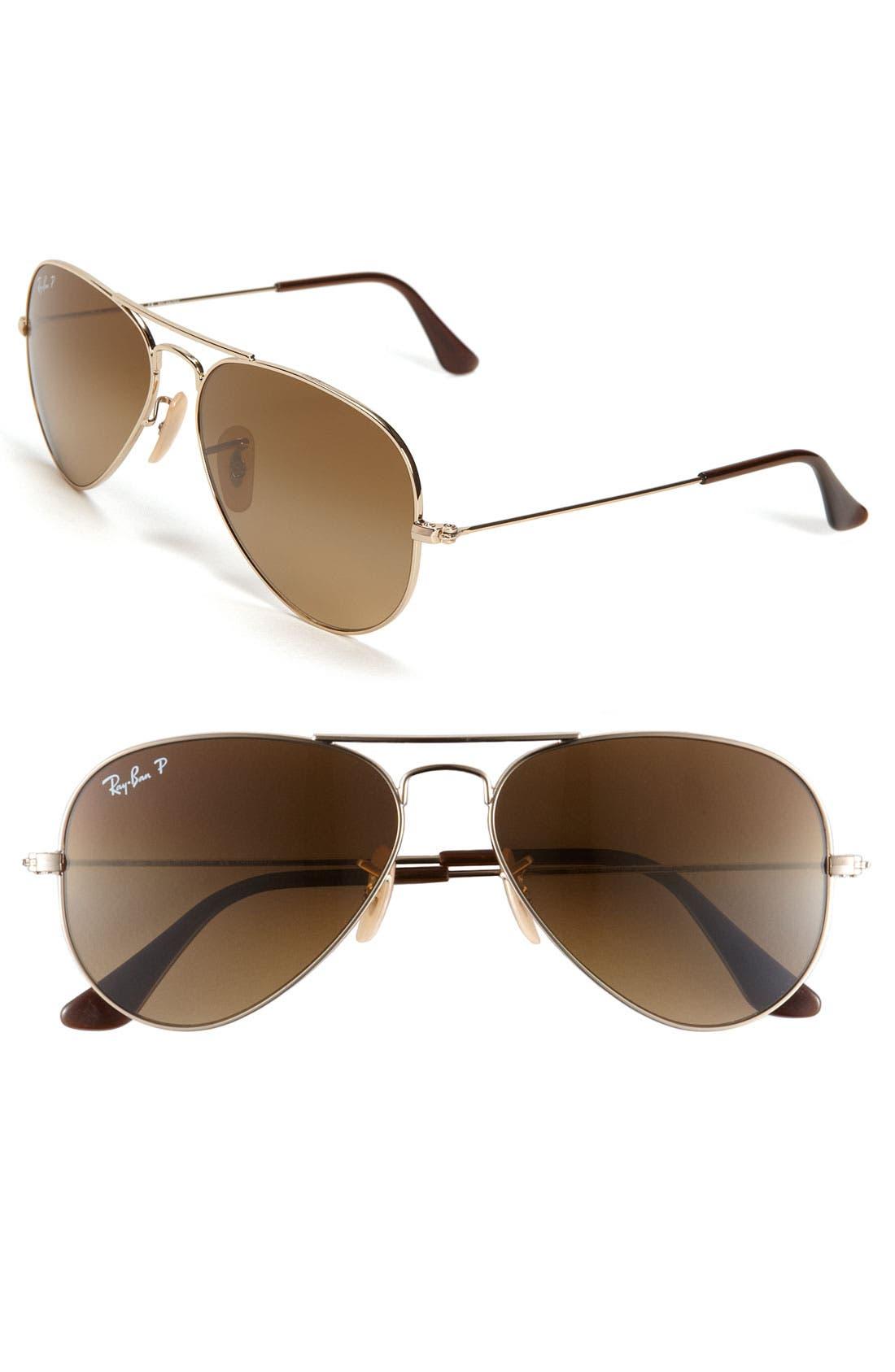 Main Image - Ray-Ban 'Original' Polarized Aviator Sunglasses