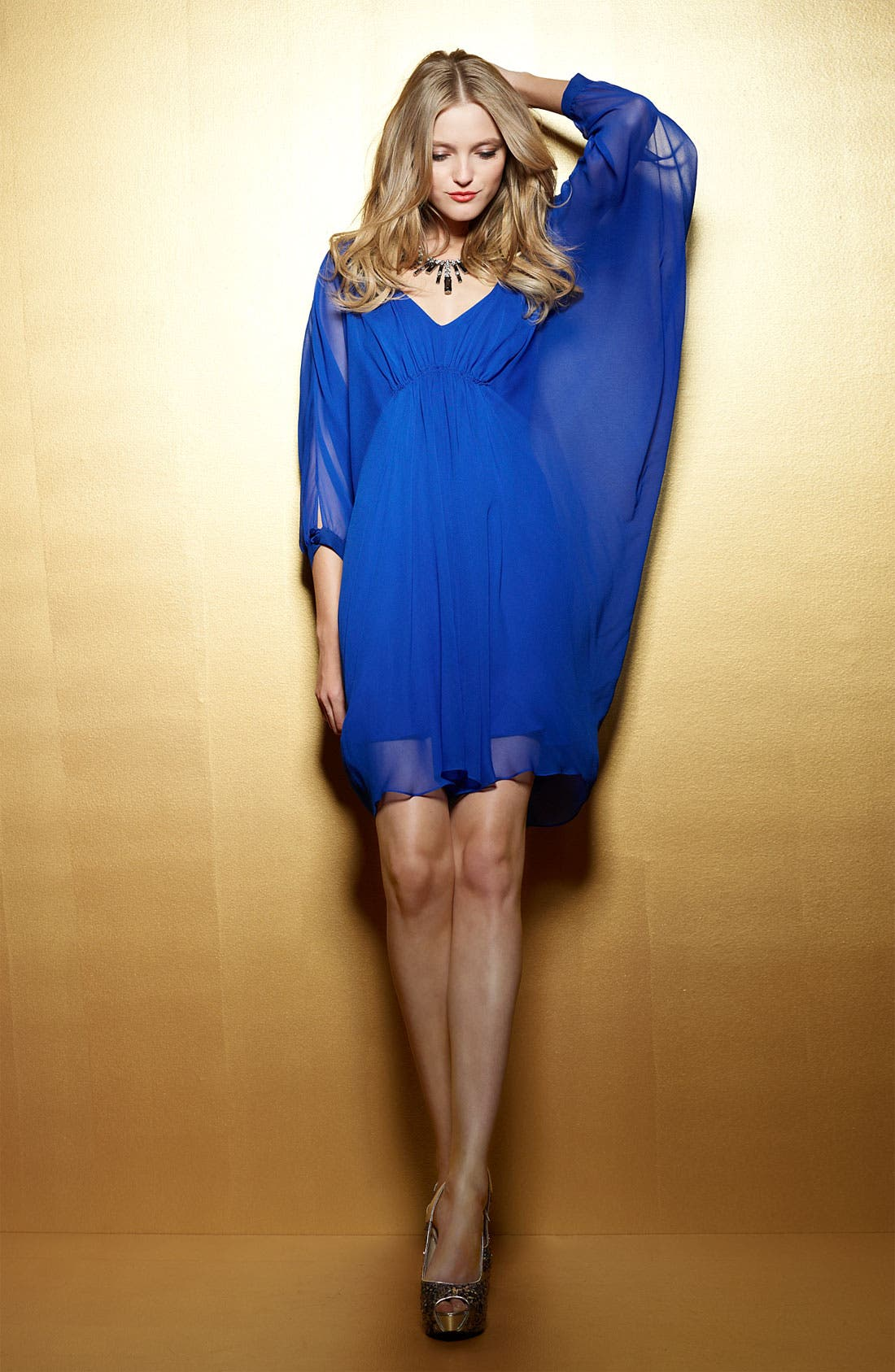 Alternate Image 2  - Suzi Chin Maggy Boutique V-Neck Chiffon Dress