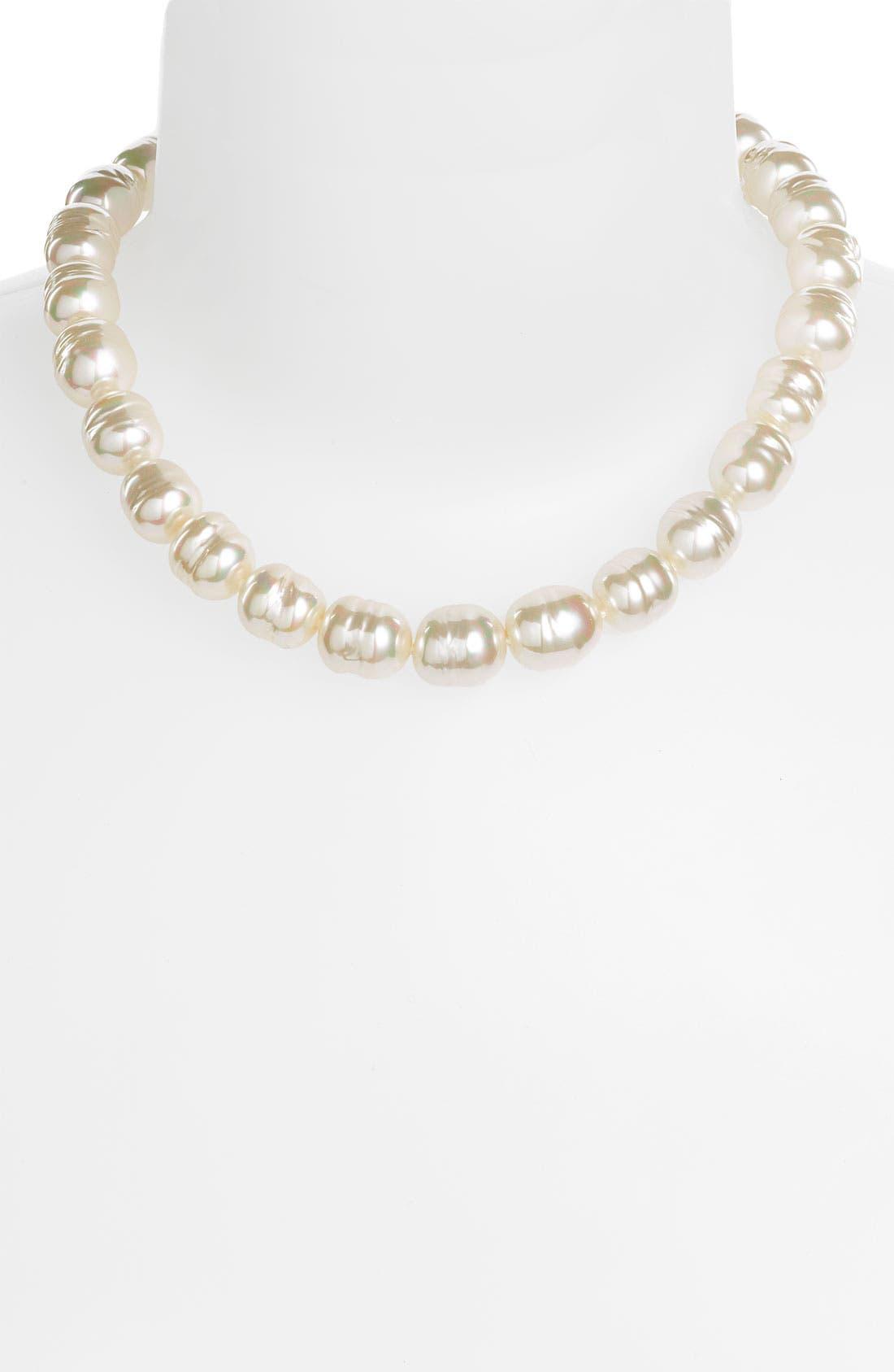 Alternate Image 2  - Majorica 14mm Baroque Pearl Necklace