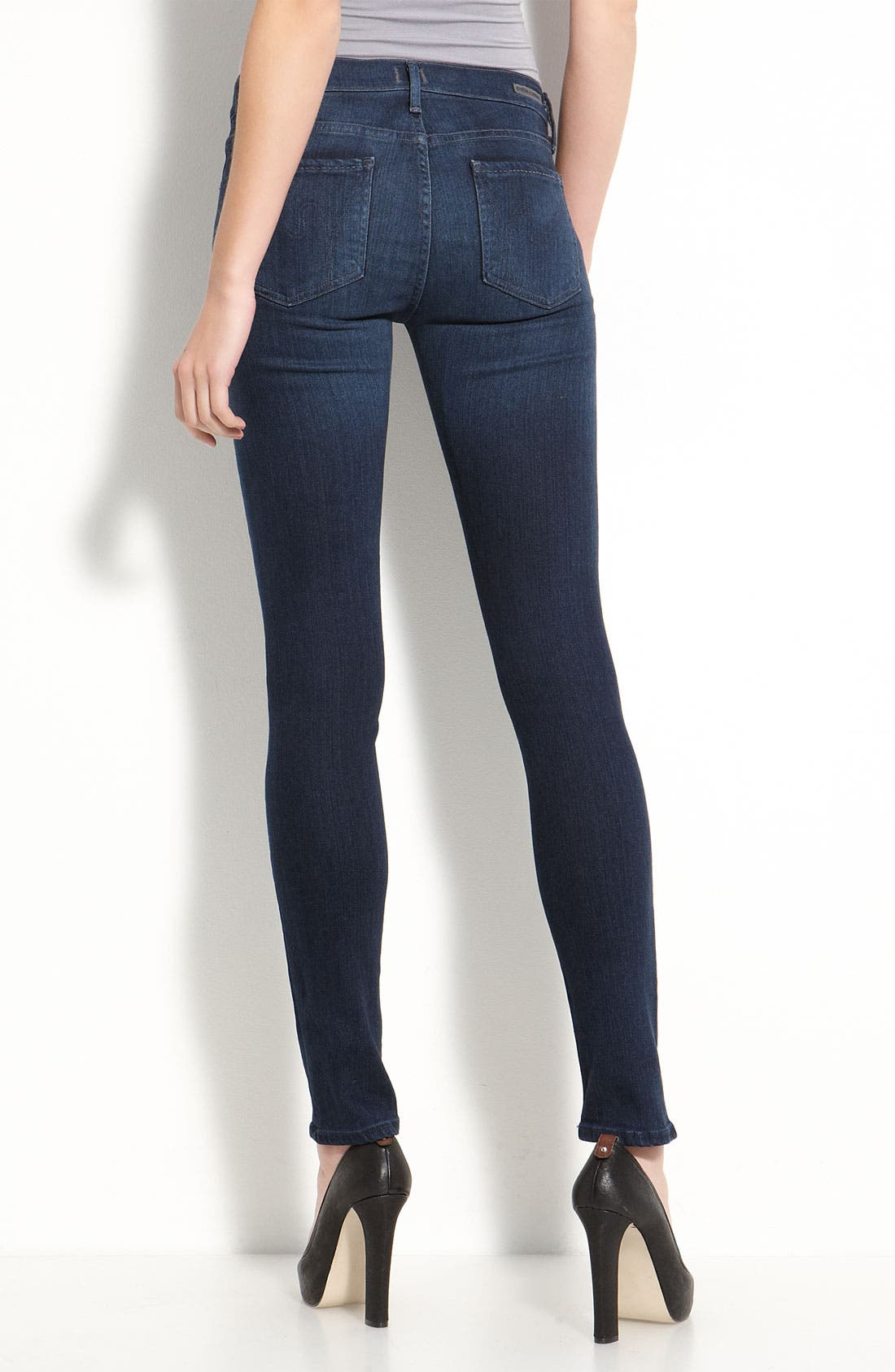Alternate Image 1 Selected - Citizens of Humanity 'Second Skin' Stretch Denim Jeans (Satellite Wash)