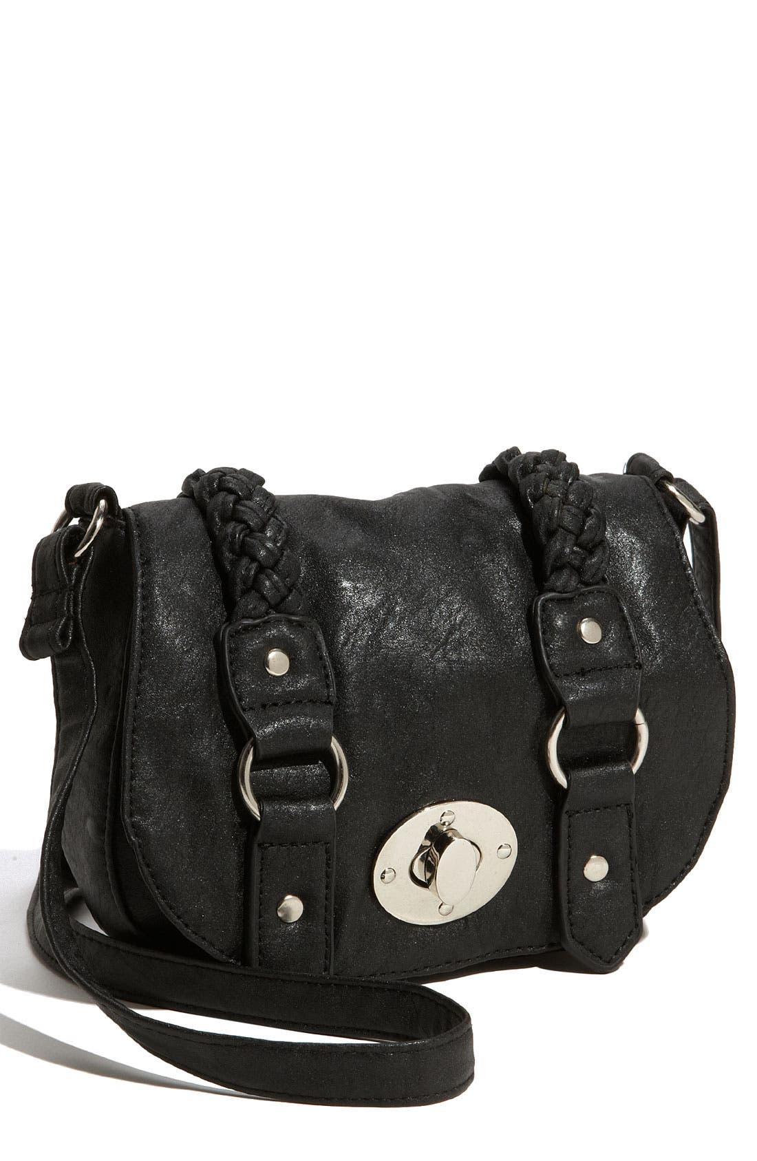 Main Image - Cesca Braid Trim Crossbody Bag