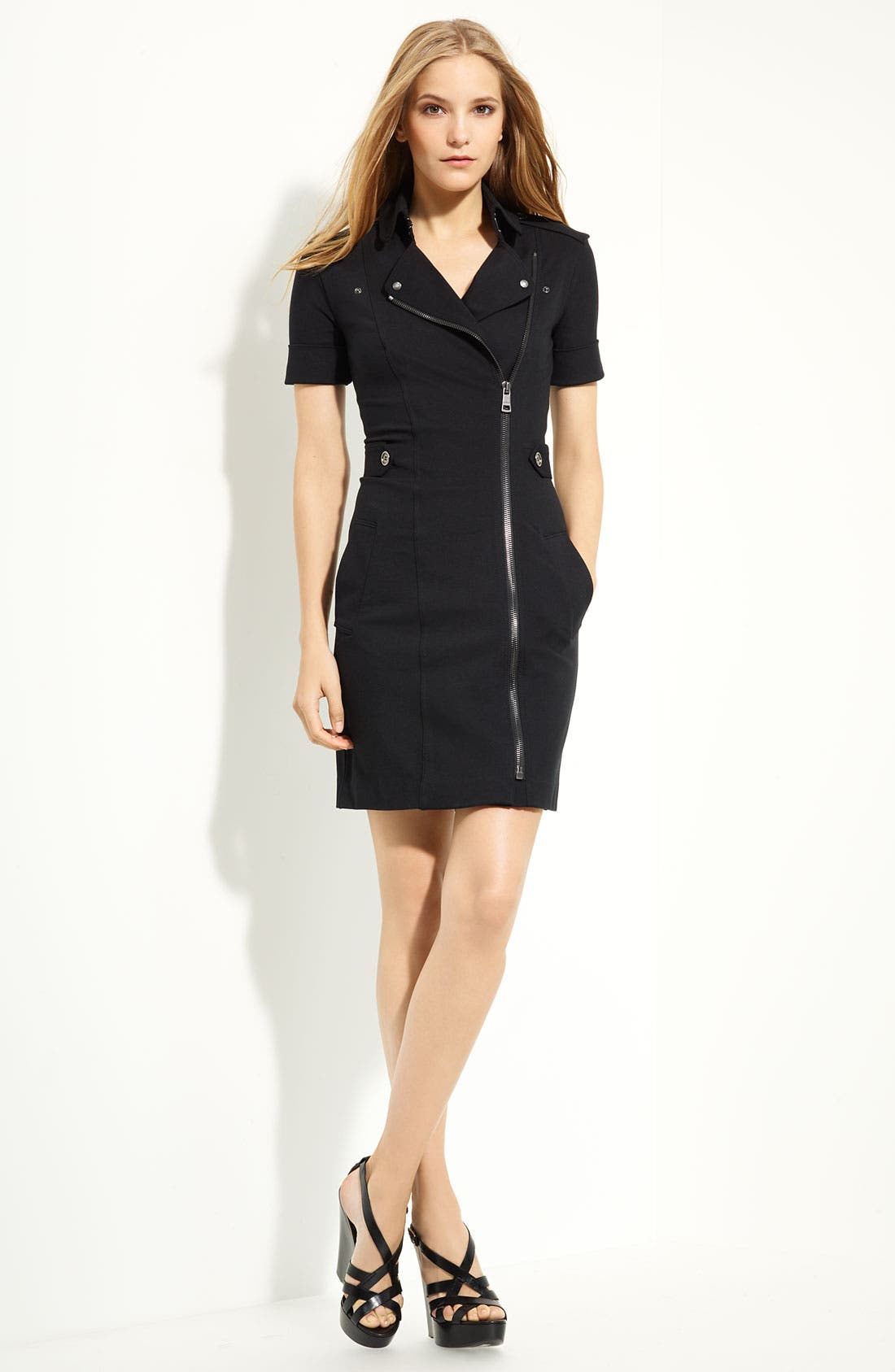 Alternate Image 1 Selected - Burberry Brit Zip Front Dress