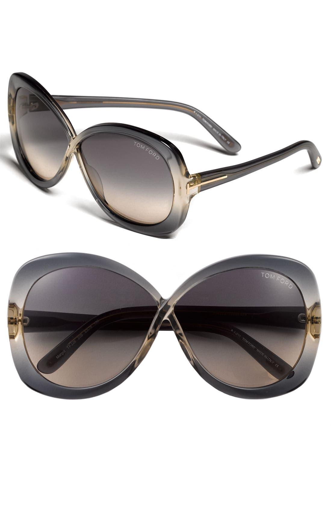Alternate Image 1 Selected - Tom Ford 'Margot' Oversized Sunglasses