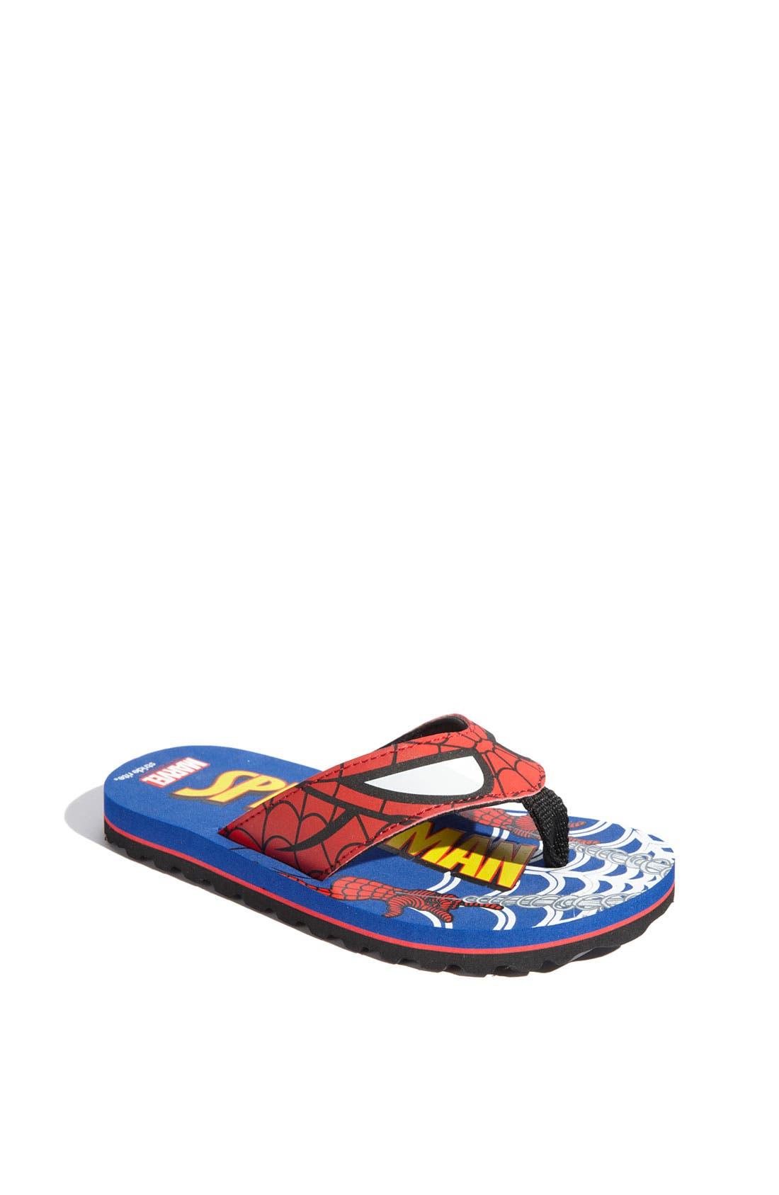 Alternate Image 1 Selected - Stride Rite 'Marvel® Comic' Flip Flop (Walker, Toddler & Little Kid)