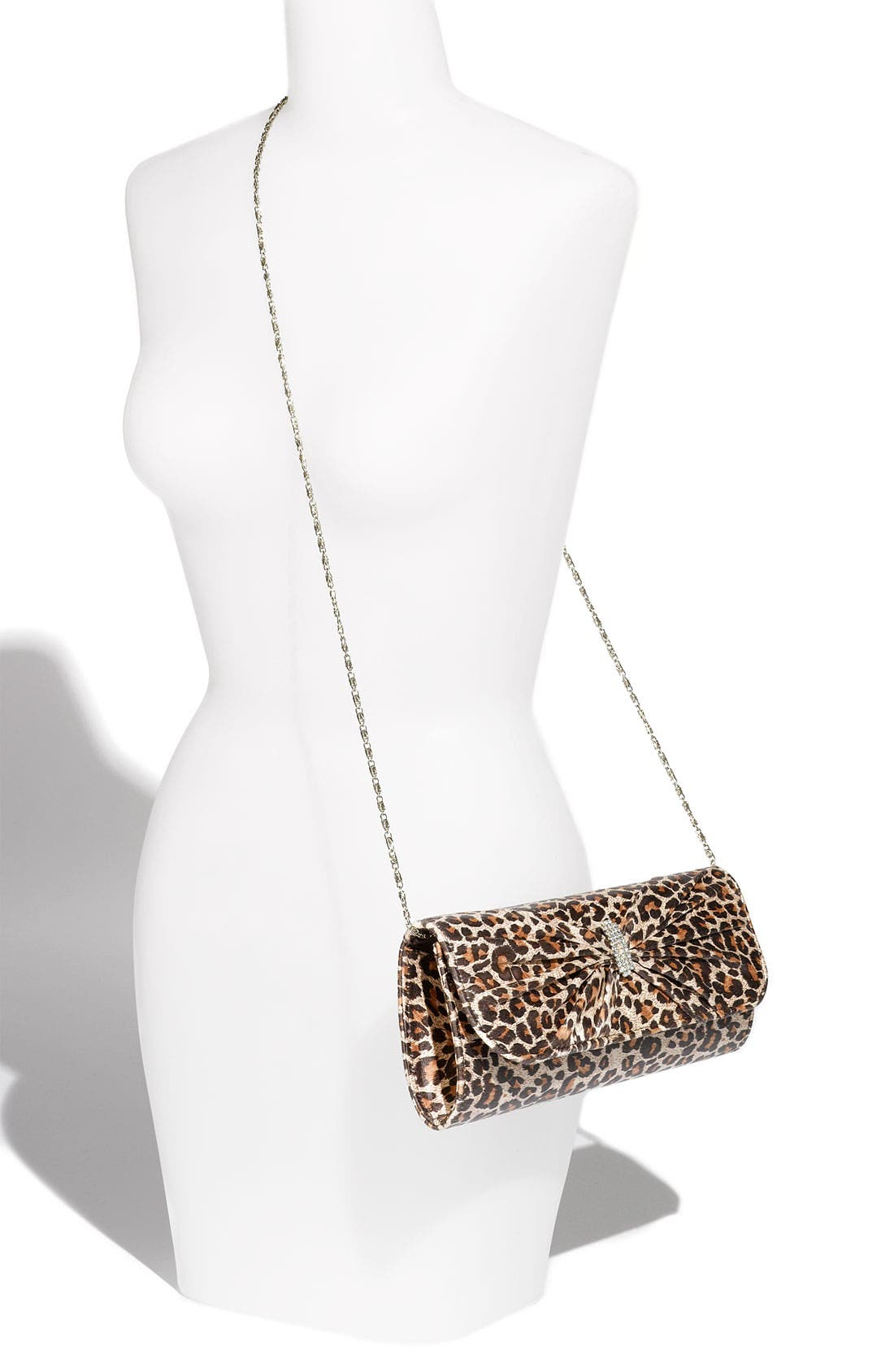 Alternate Image 4  - Top Choice Leopard Print Embellished Bow Clutch