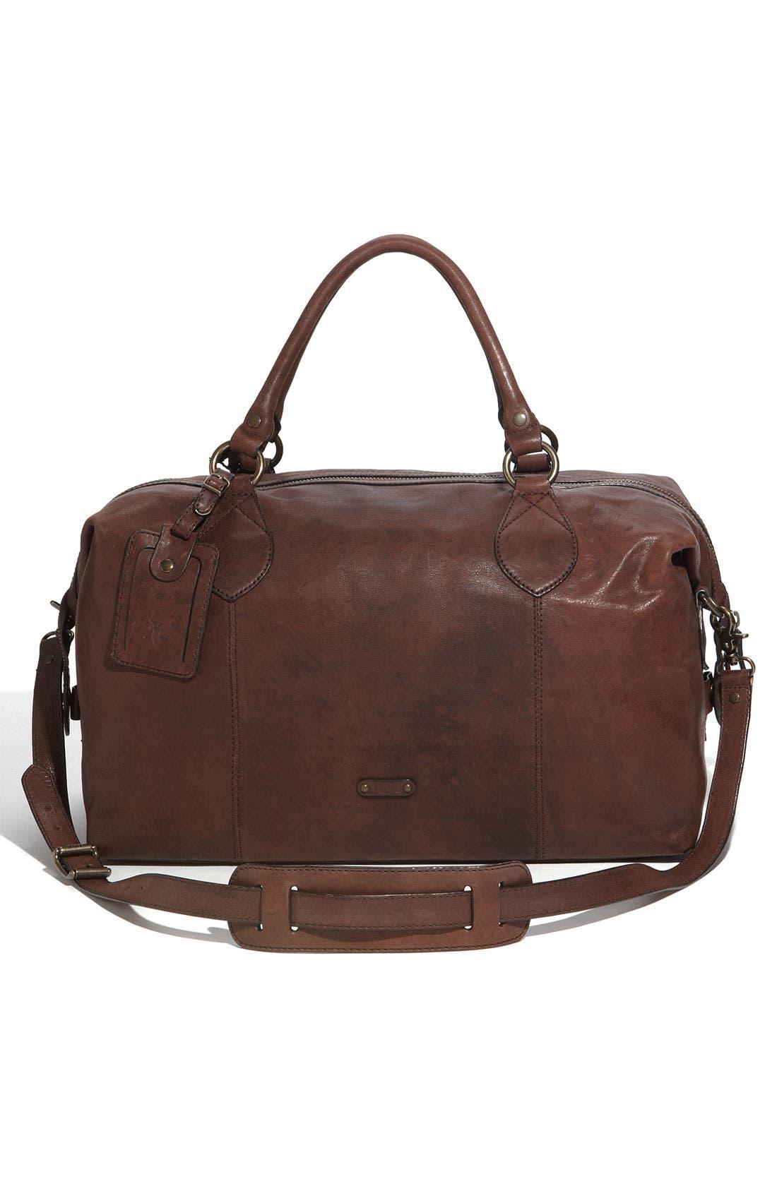 Alternate Image 2  - Frye 'Logan' Leather Overnight Bag