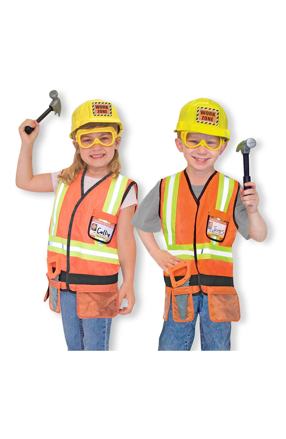 Alternate Image 1 Selected - Melissa & Doug 'Construction Worker' Role Play Set (Toddler)