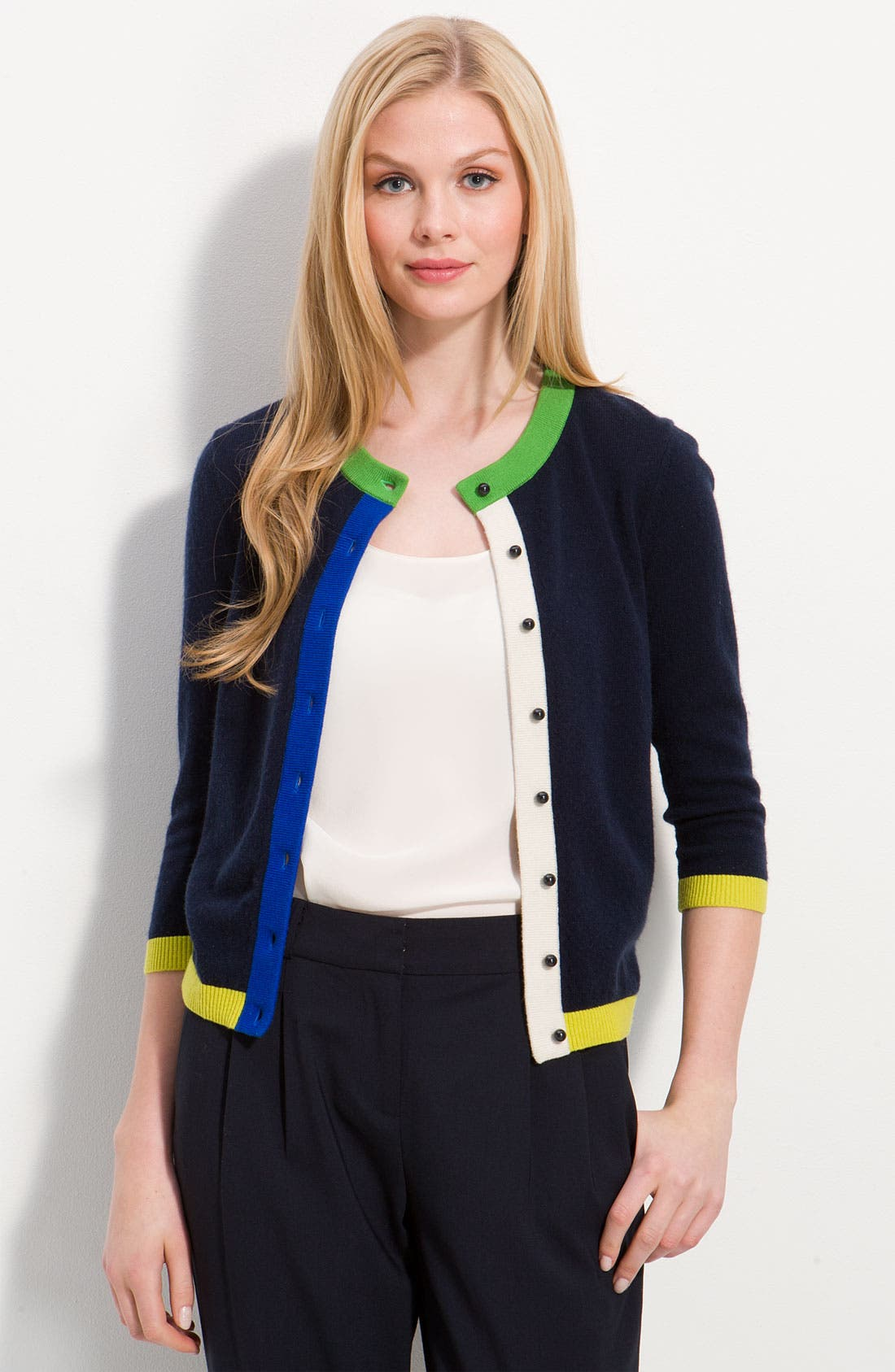 Alternate Image 1 Selected - kate spade new york colorblock cashmere cardigan