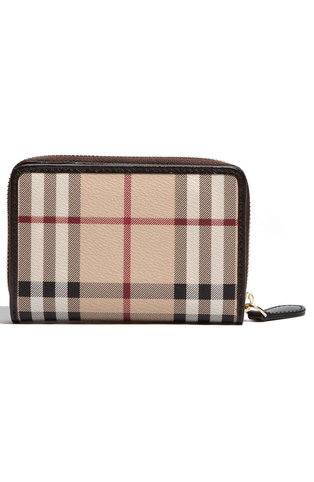 Alternate Image 4  - Burberry 'Haymarket Check' French Zip Around Wallet