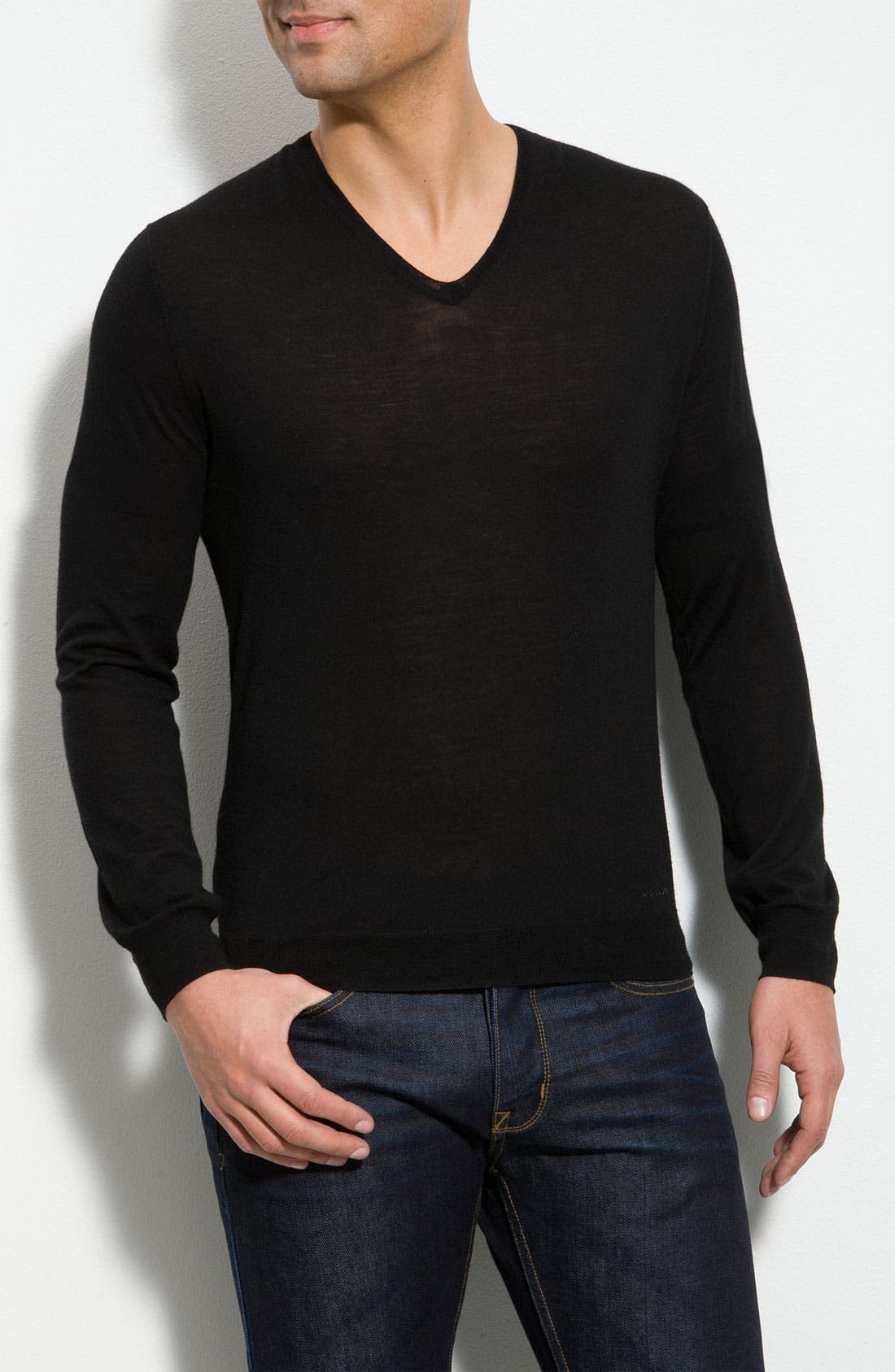 Main Image - Burberry London V-Neck Wool Sweater