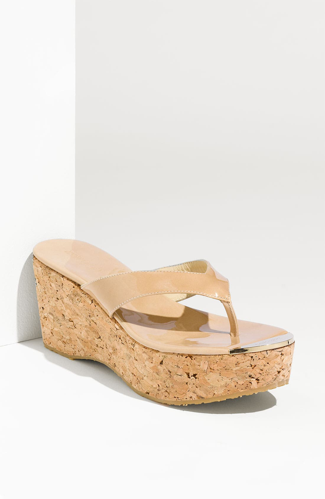Alternate Image 1 Selected - Jimmy Choo 'Pathos Pat' Cork Wedge Sandal
