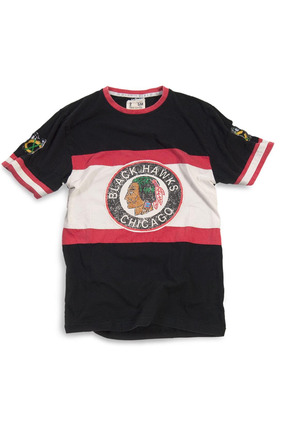 Alternate Image 1 Selected - Red Jacket 'Chicago Blackhawks' Trim Fit Crewneck Ringer T-Shirt (Men)