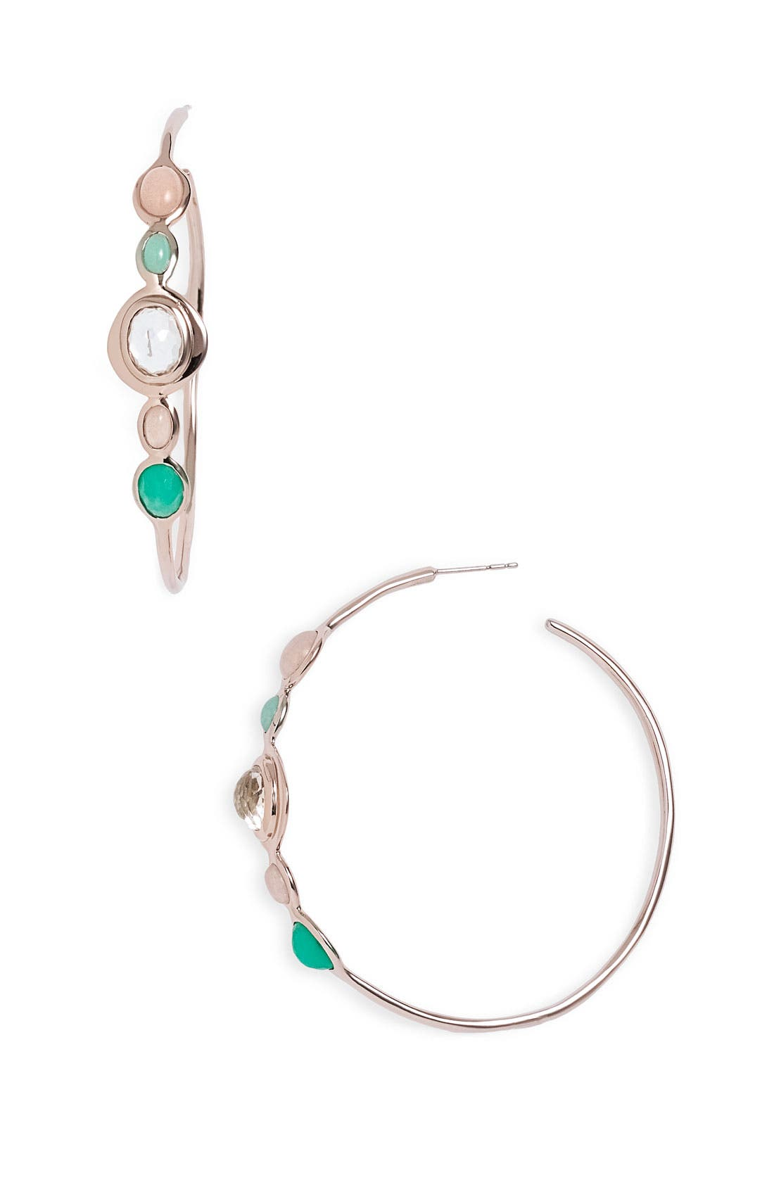 Alternate Image 1 Selected - Ippolita 'Sun Kissed' 5-Stone Rosé Hoop Earrings