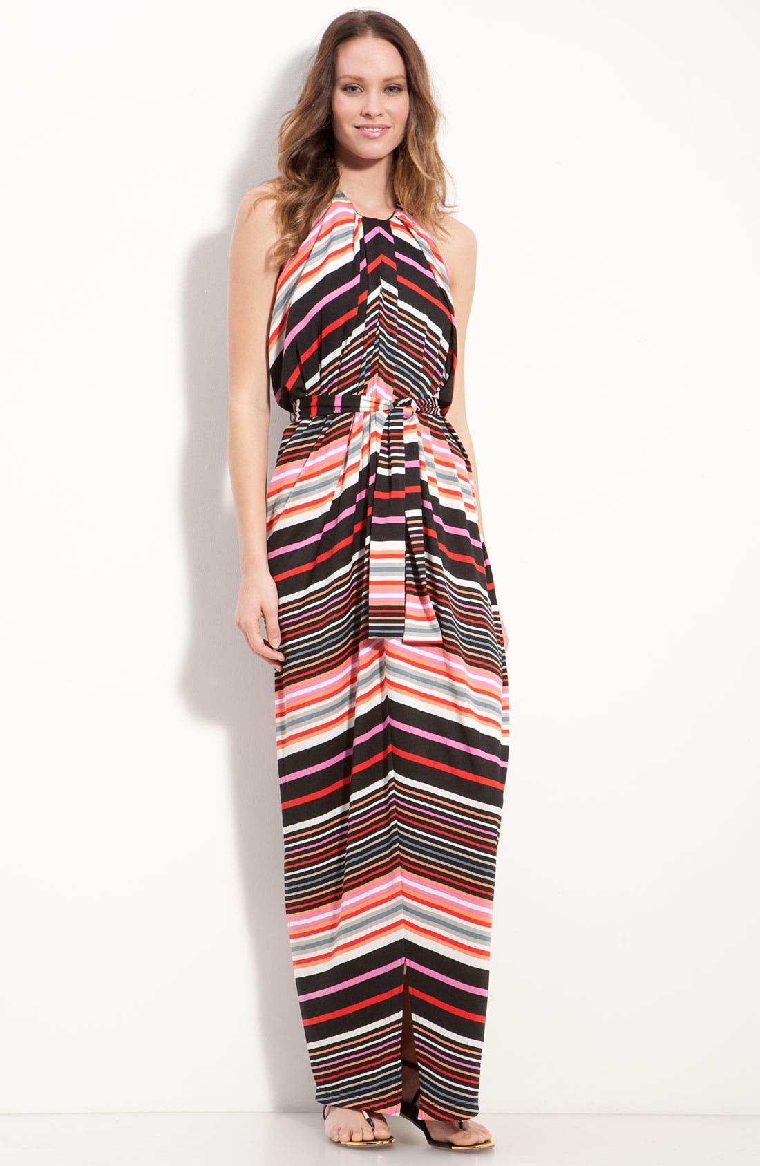 Main Image - Suzi Chin for Maggy Boutique Stripe Jersey Halter Dress