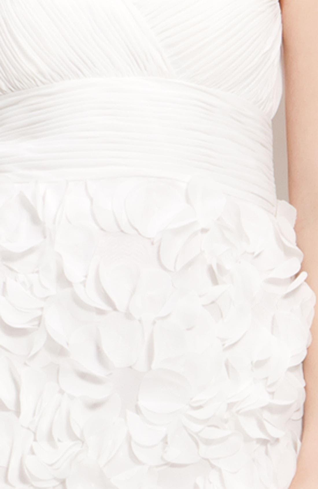Alternate Image 3  - JS Collections Chiffon Petal Strapless Sheath Dress