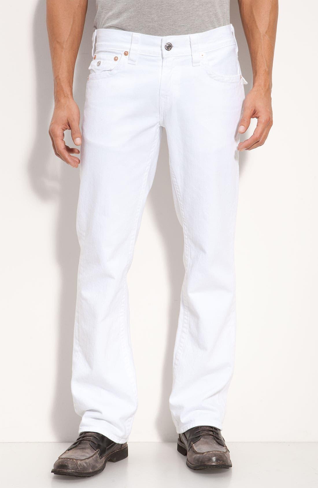 Alternate Image 2  - True Religion Brand Jeans 'Ricky' Relaxed Straight Leg Jeans (Optic Rinse)