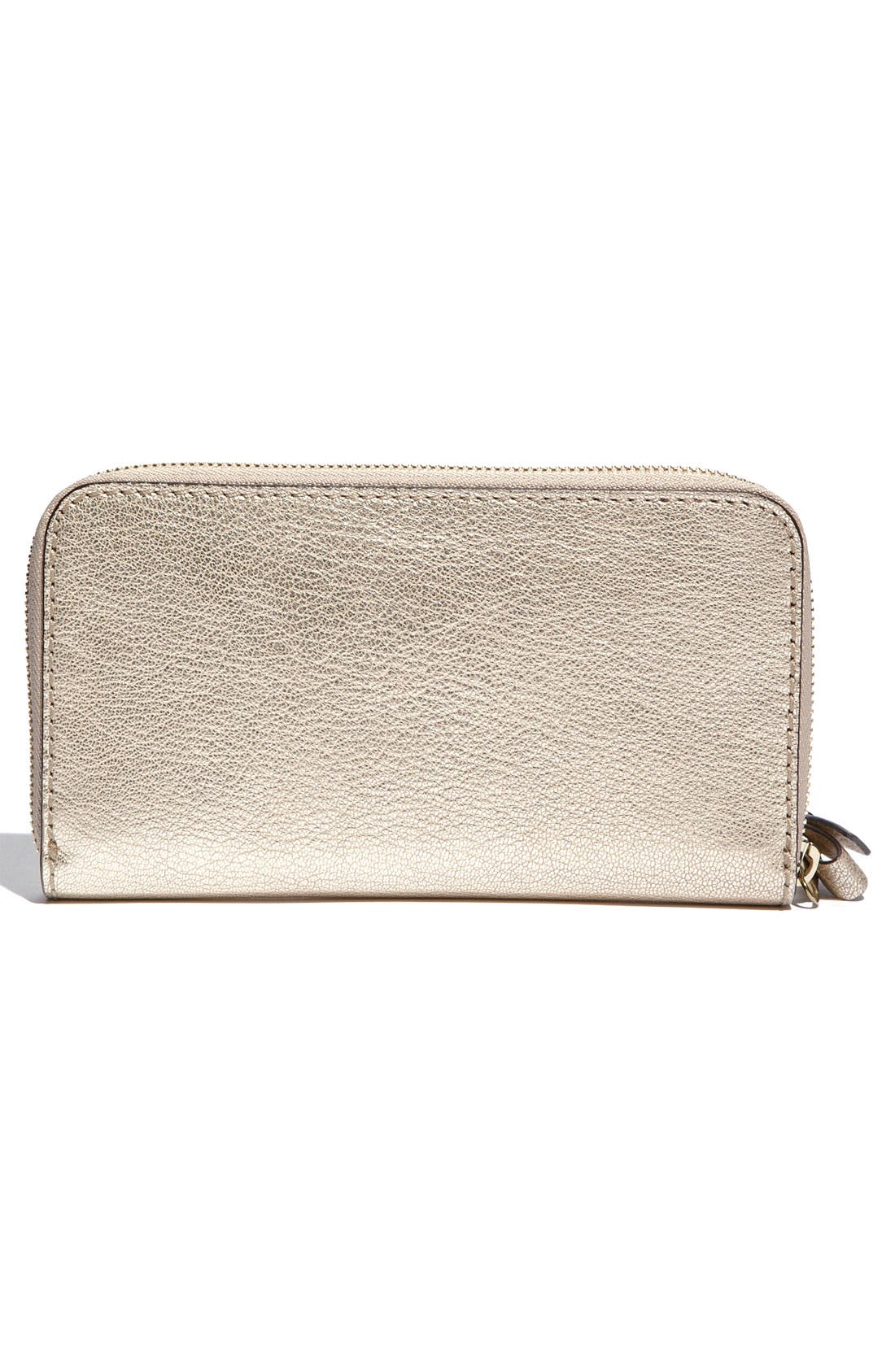 Alternate Image 4  - Chloé 'Shadow Long' Metallic Leather Wallet