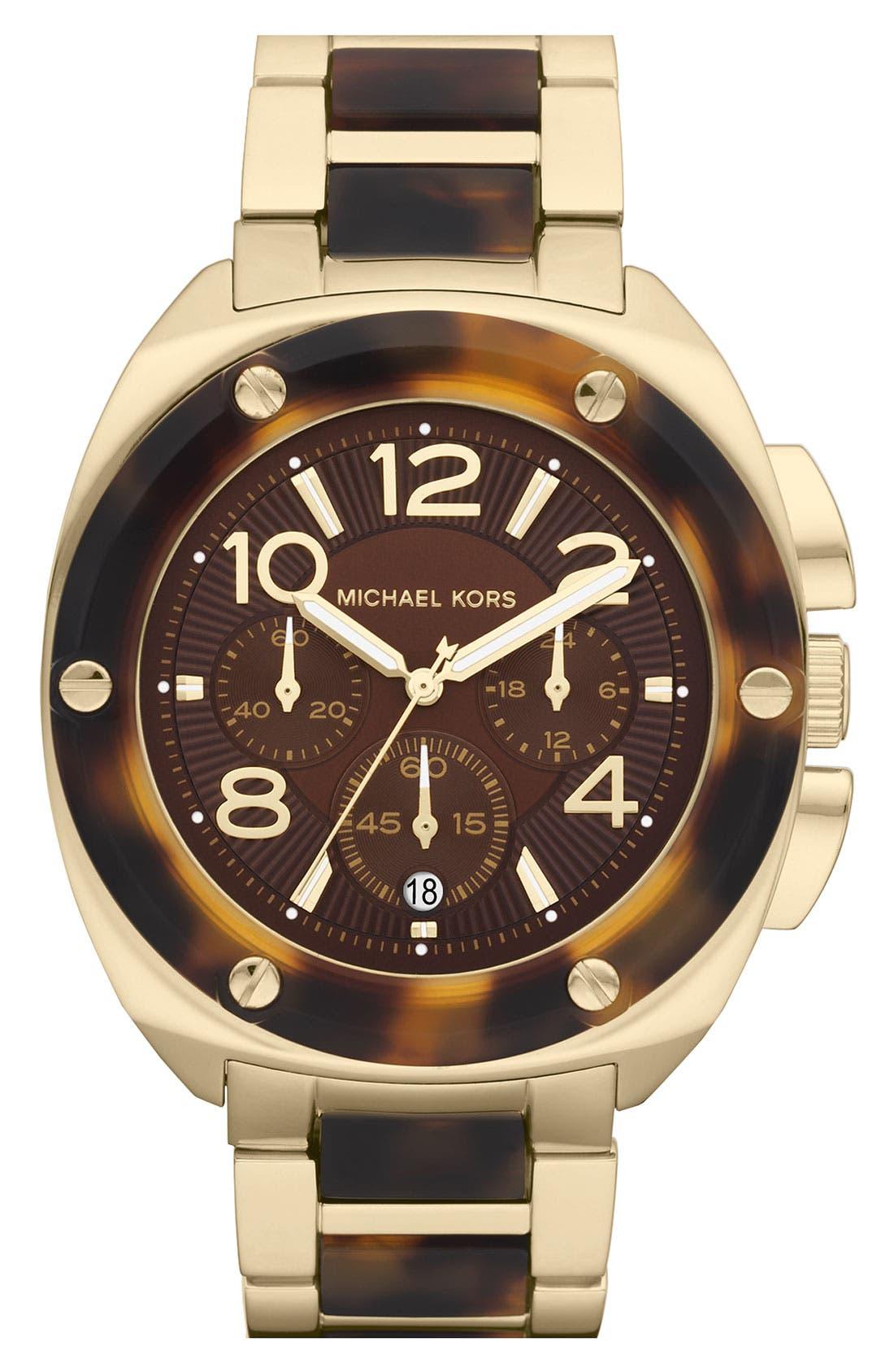 Alternate Image 1 Selected - Michael Kors 'Tribeca' Chronograph Bracelet Watch