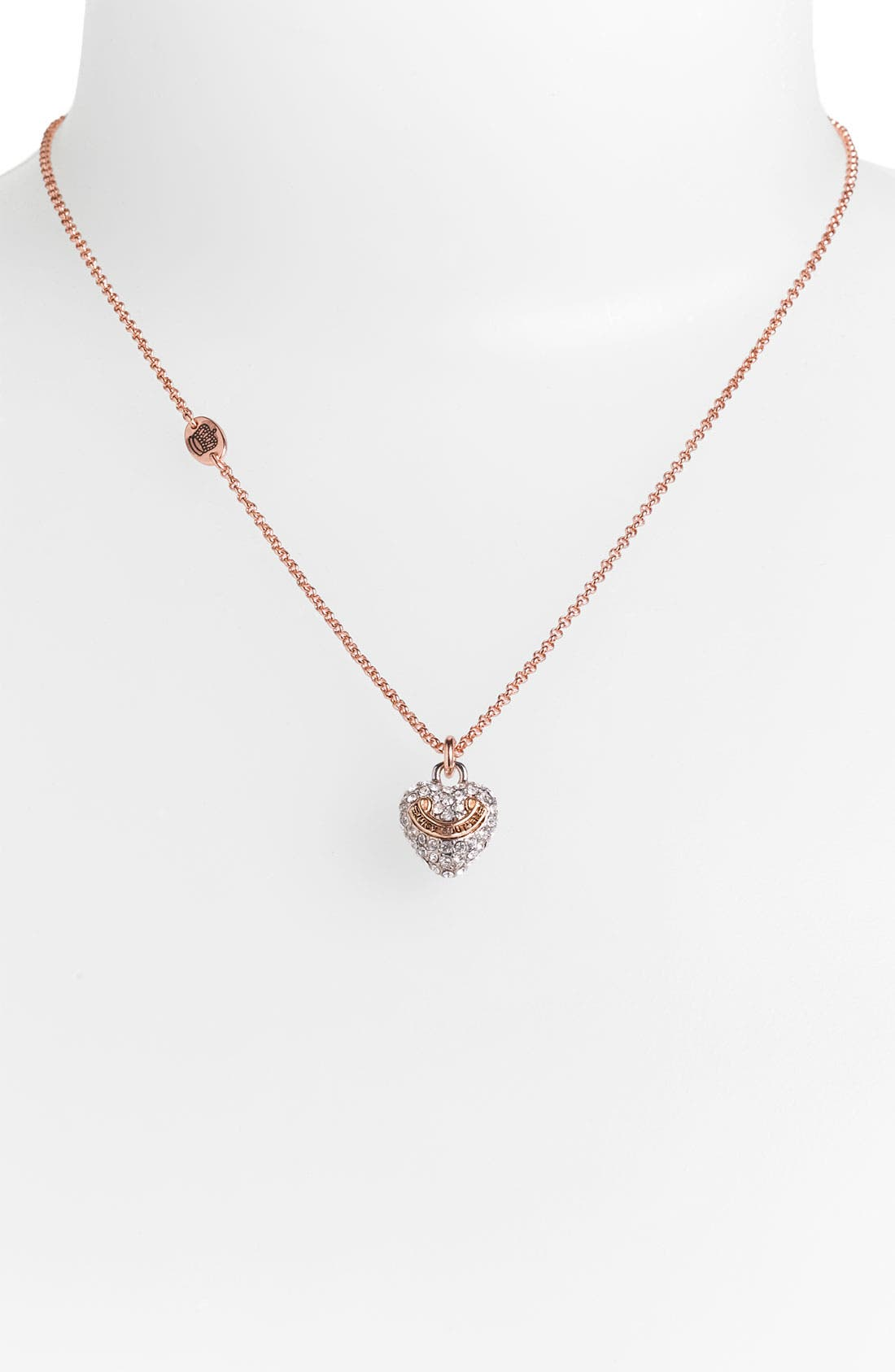 Alternate Image 1 Selected - Juicy Couture 'Wish - Pavé Heart' Necklace