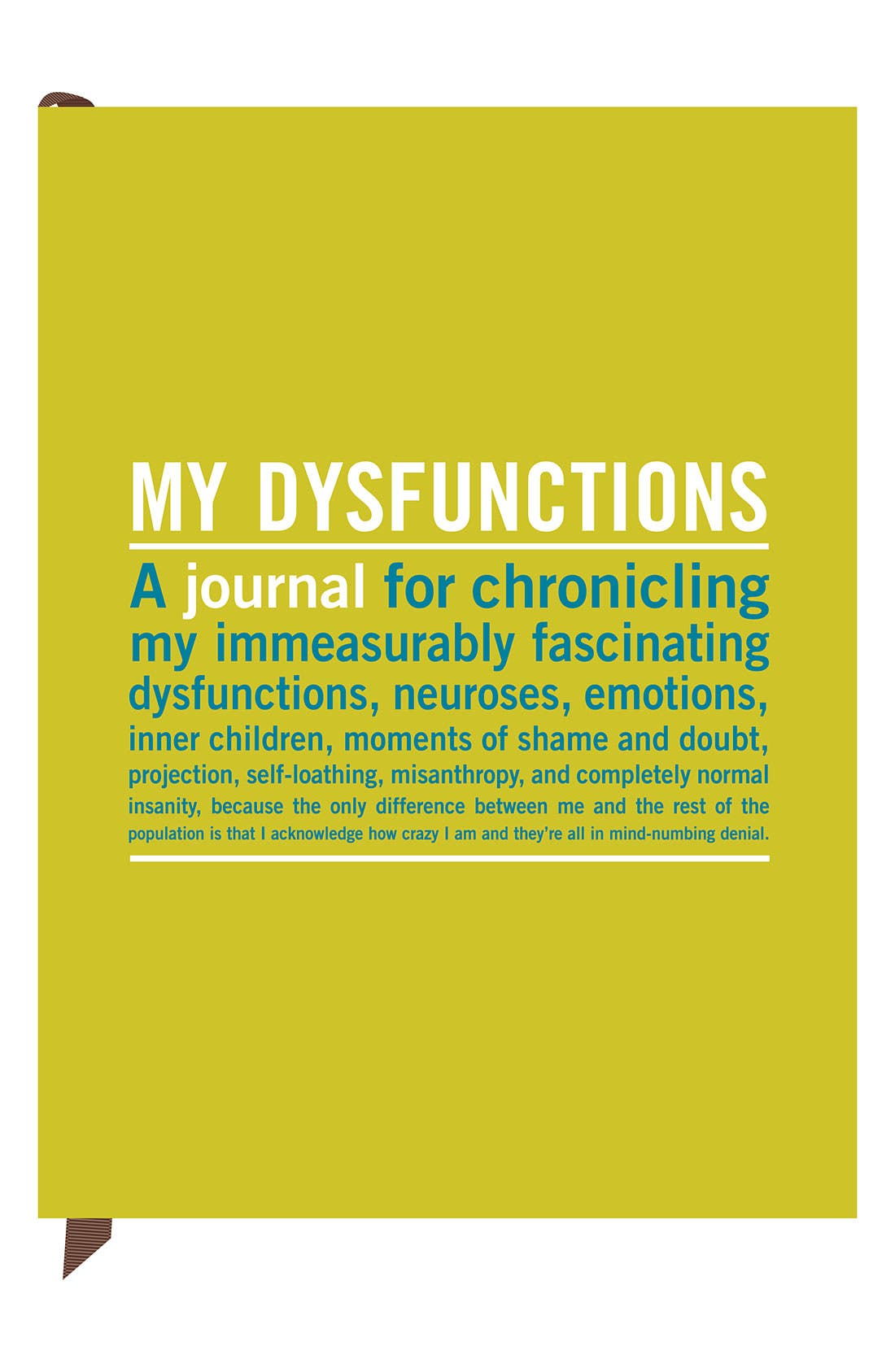 Main Image - Knock Knock 'My Dysfunctions' Journal