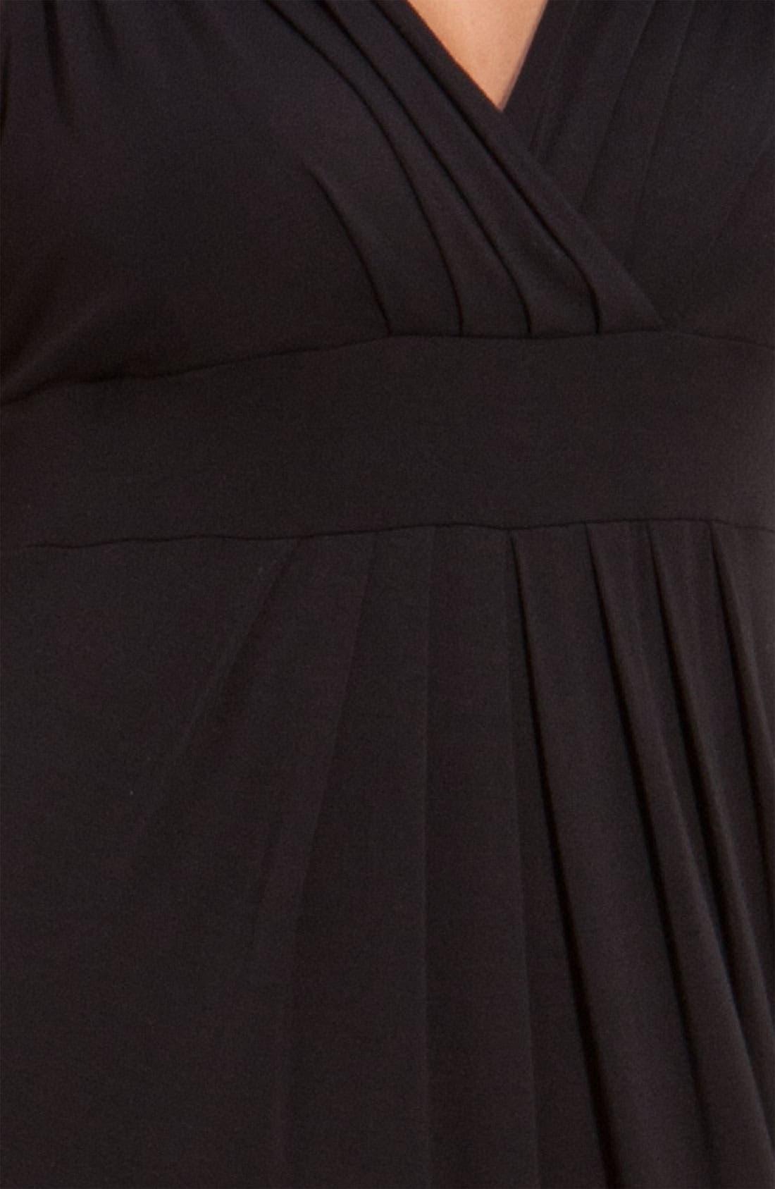Alternate Image 3  - Karen Kane Pleated Knit Maxi Dress (Plus)
