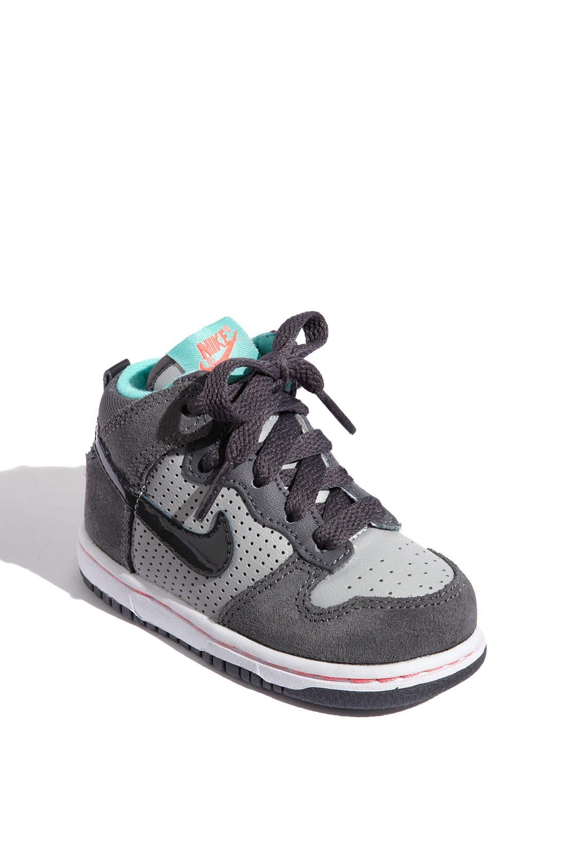 Alternate Image 1 Selected - Nike 'Dunk High' Sneaker (Baby, Walker & Toddler)