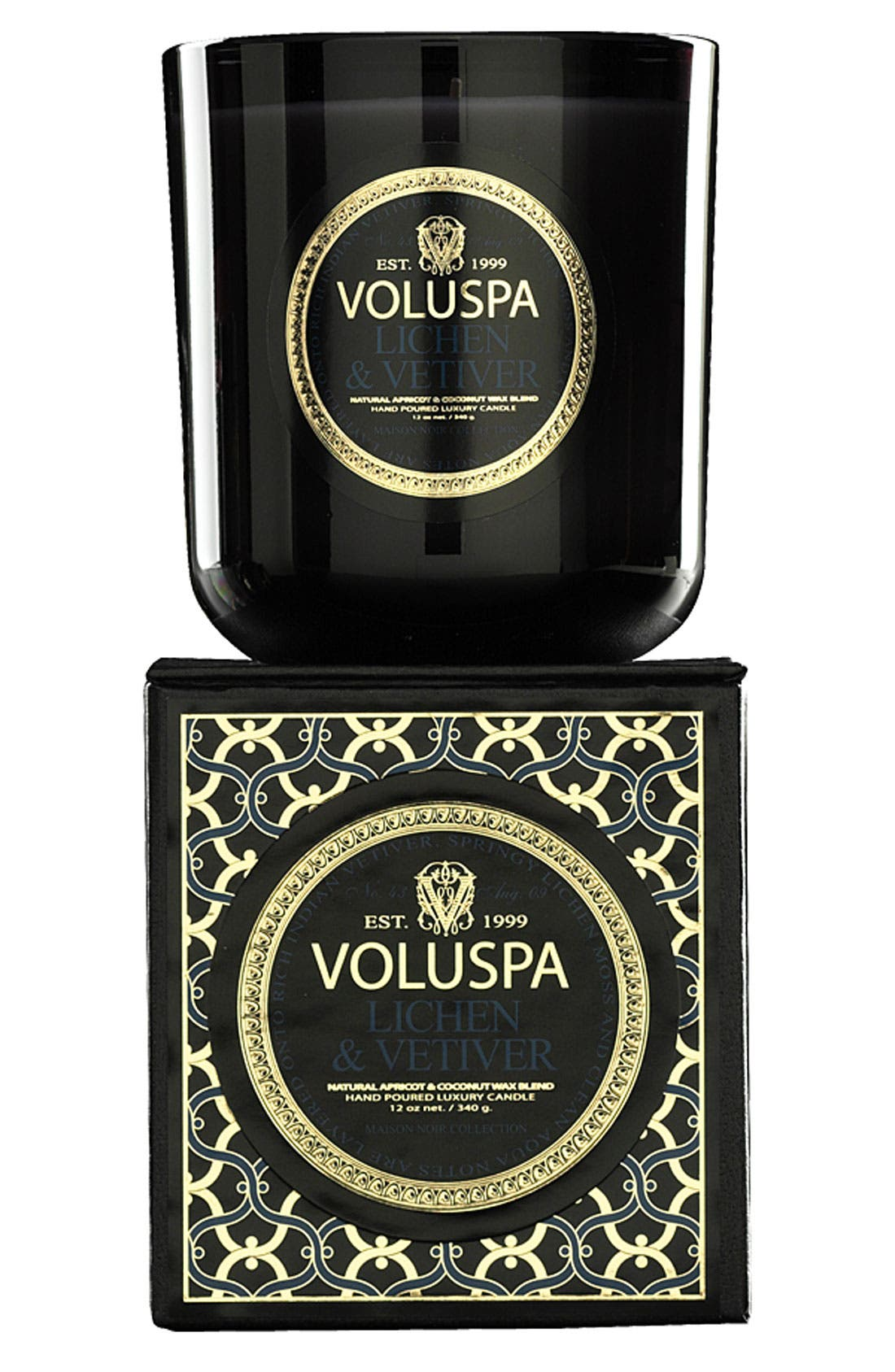 Alternate Image 1 Selected - Voluspa 'Maison Noir - Lichen & Vetiver' Scented Candle