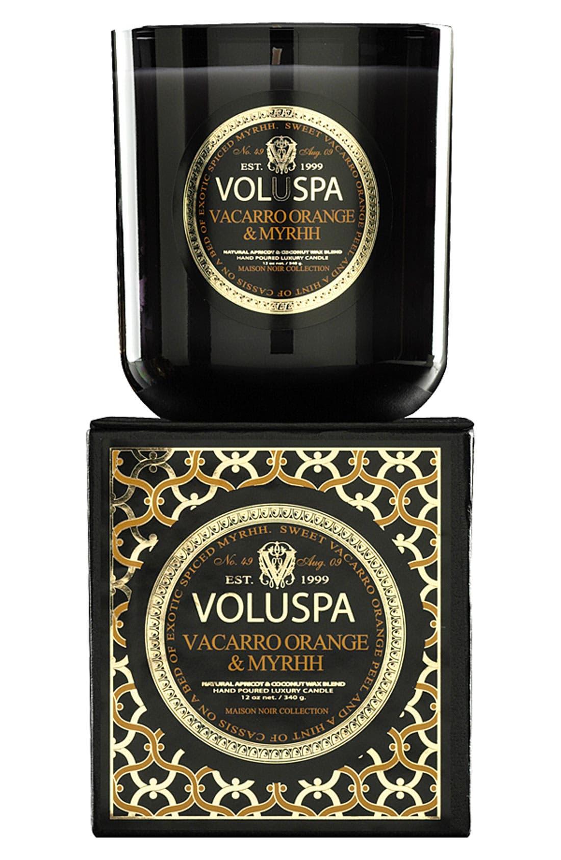 Main Image - Voluspa 'Maison Noir - Vacarro Orange & Myrhh' Scented Candle