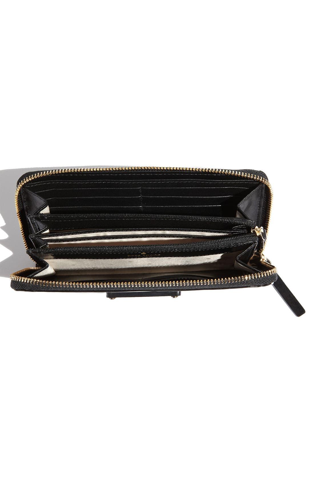 Alternate Image 3  - kate spade new york 'stripe lacey' zip around wallet