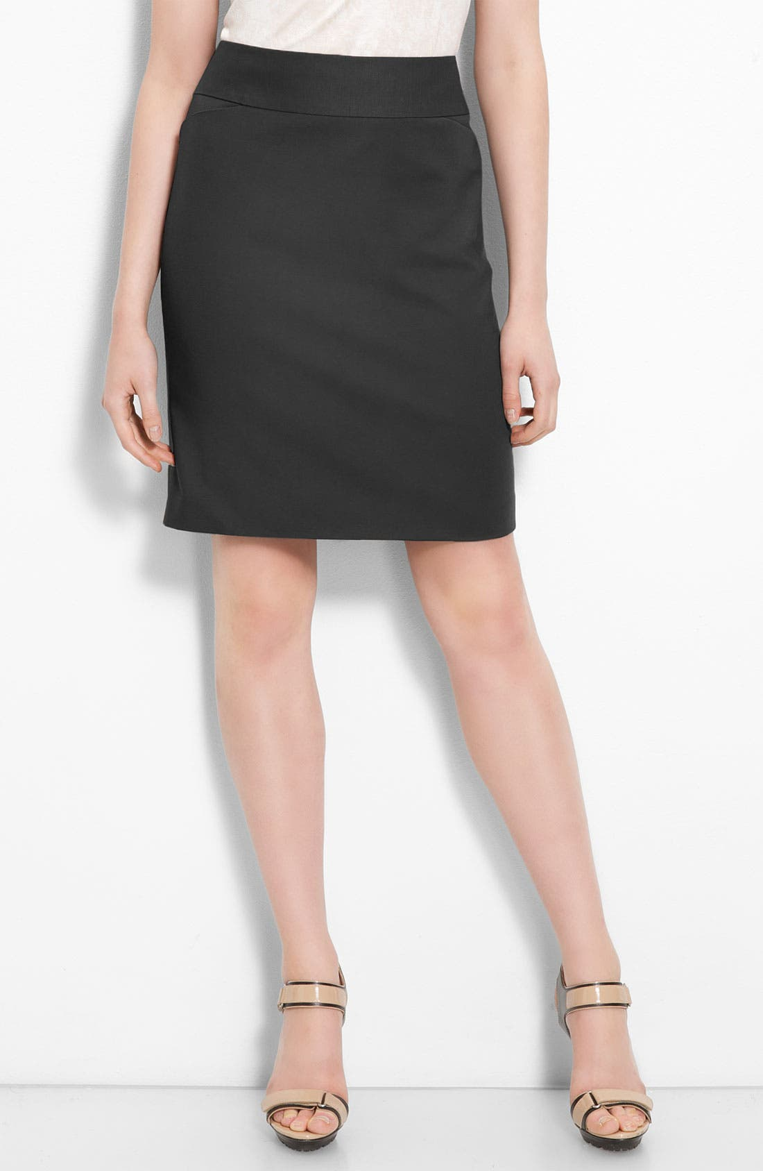 Main Image - Halogen® Stretch Cotton Blend Pencil Skirt