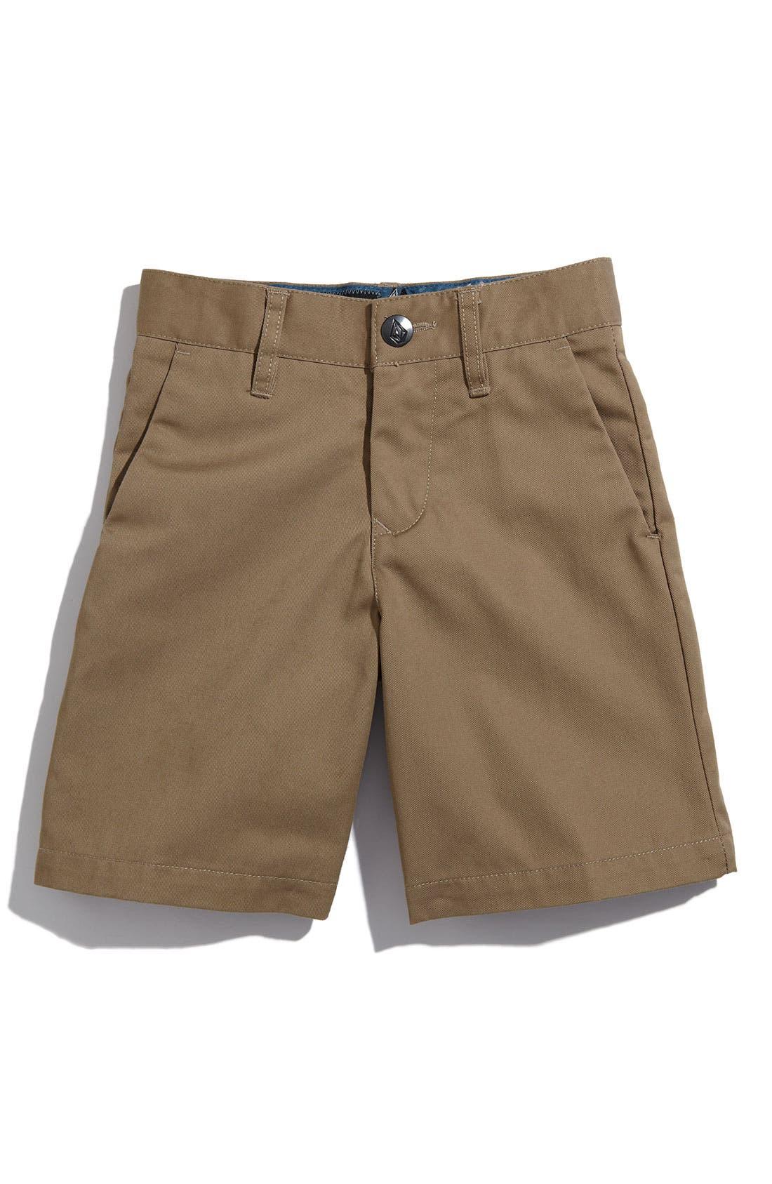 Main Image - Volcom 'Modern' Chino Shorts (Toddler Boys)