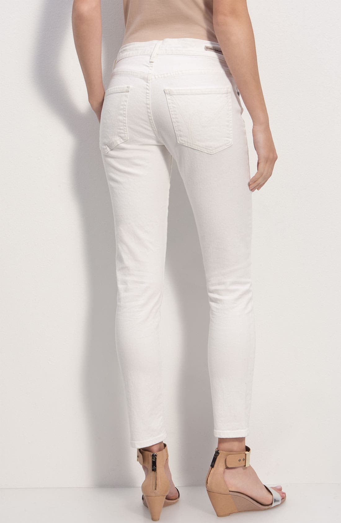 Alternate Image 1 Selected - Citizens of Humanity 'Thompson' Crop Skinny Jeans (Vintage Ivory)