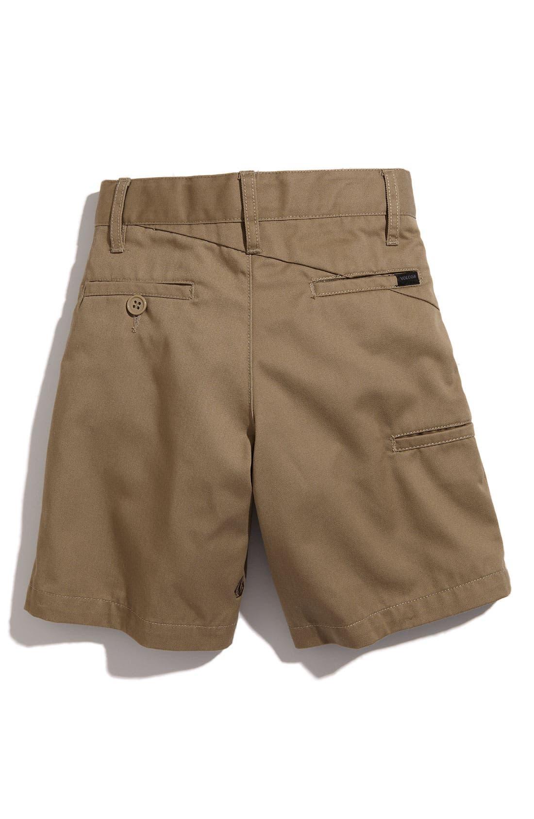 Alternate Image 2  - Volcom 'Modern' Chino Shorts (Toddler Boys)