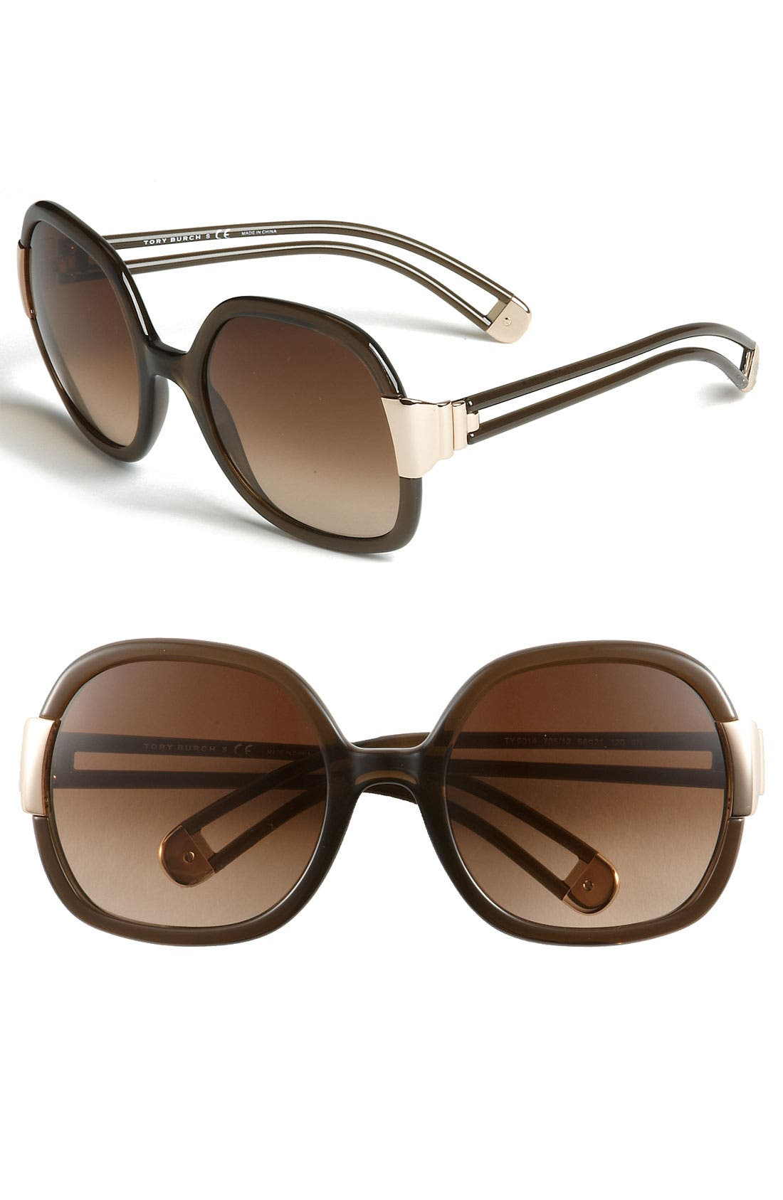 Alternate Image 1 Selected - Tory Burch 56mm Oversized Sunglasses