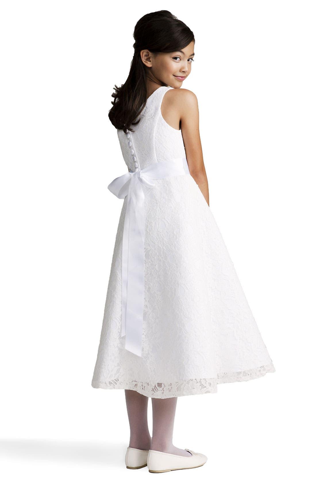 Alternate Image 2  - Us Angels Beaded Lace Sleeveless Dress (Big Girls)