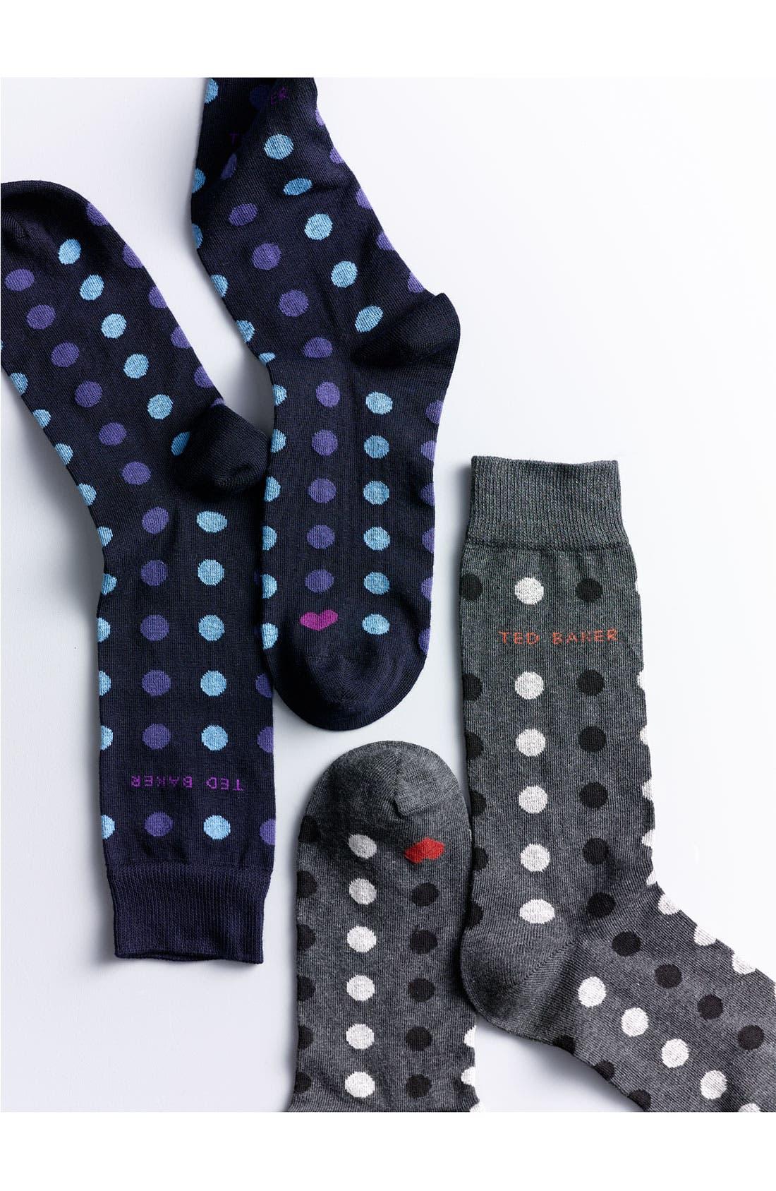 Alternate Image 2  - Ted Baker London Repeated Spot Calf Length Socks