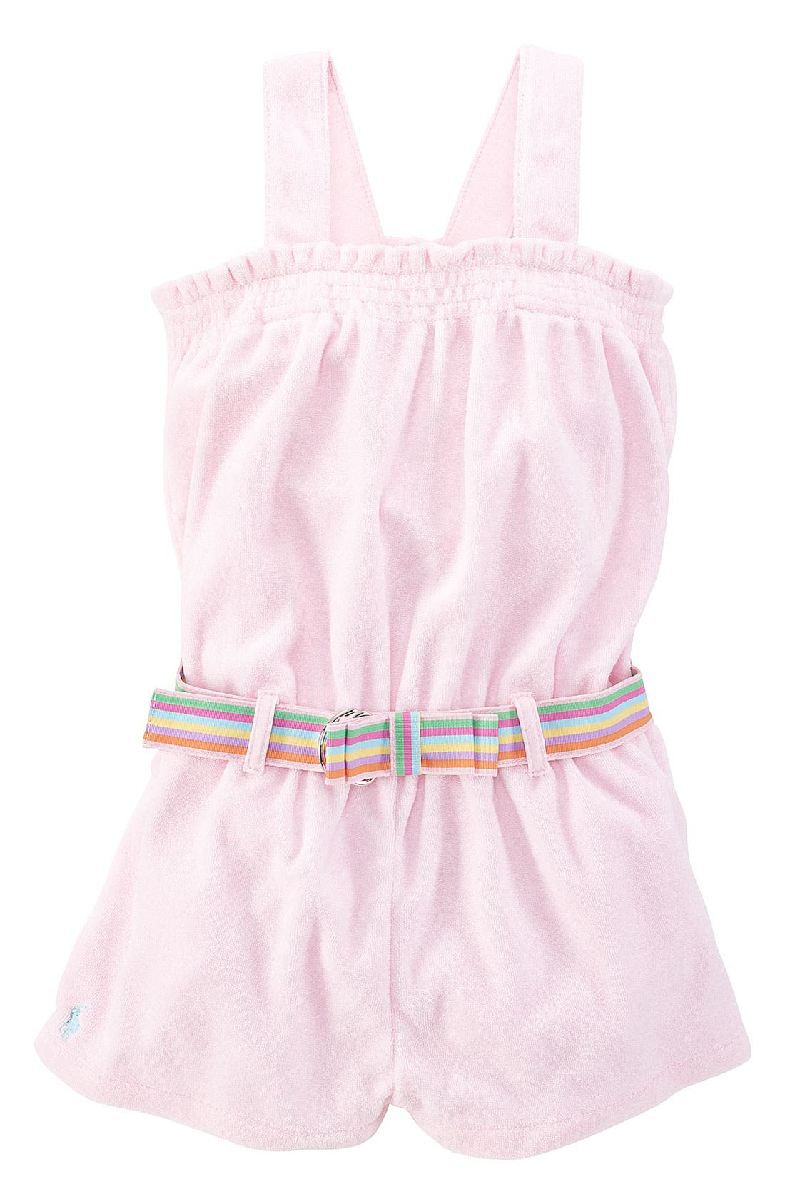 Main Image - Ralph Lauren Short Coveralls (Infant)