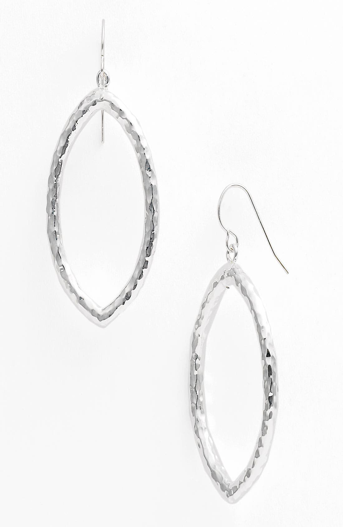 Main Image - Simon Sebbag Hammered Open Marquise Drop Earrings