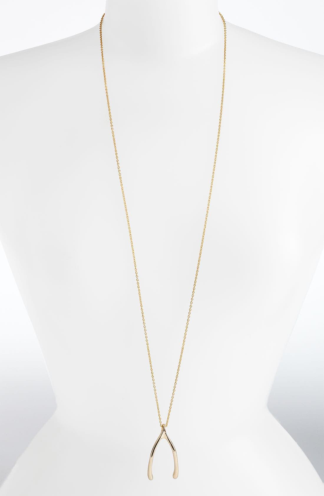 Main Image - Belle Noel Wishbone Necklace