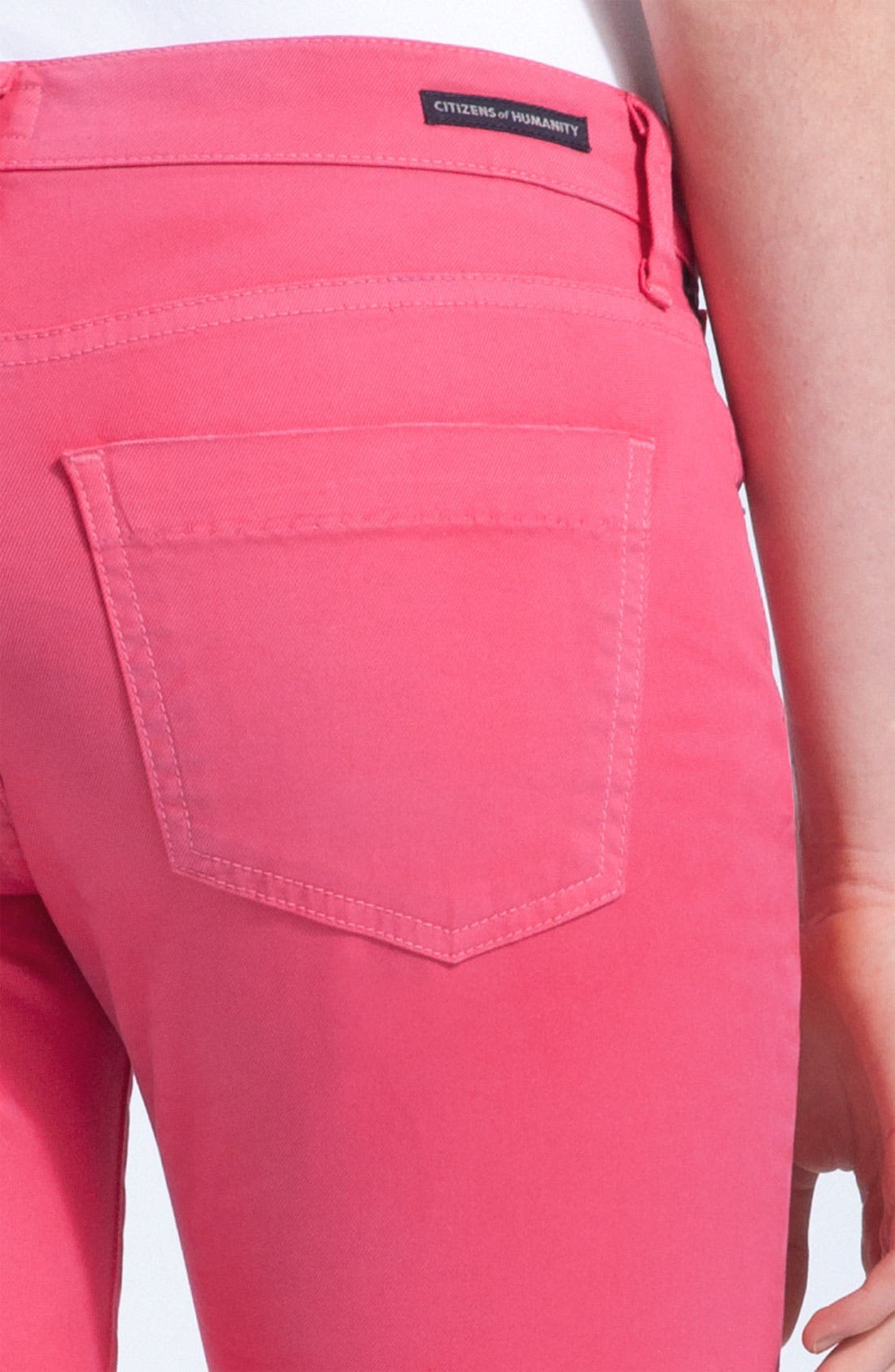 Alternate Image 3  - Citizens of Humanity 'Dani' Colored Denim Skinny Leg Crop Jeans (Shocking Pink)