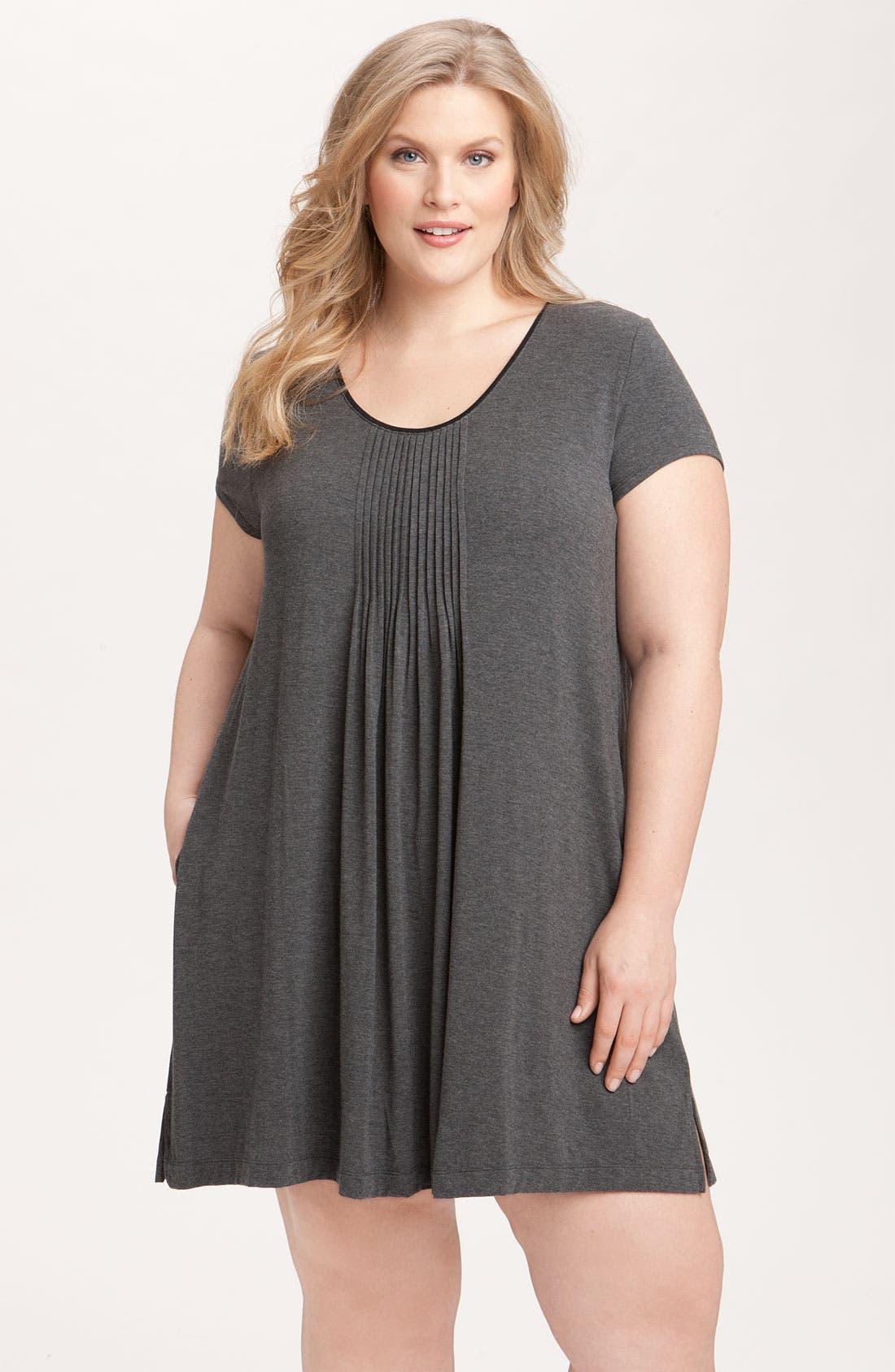 Main Image - DKNY '7 Easy Pieces' Pintuck Sleep Shirt (Plus Size)