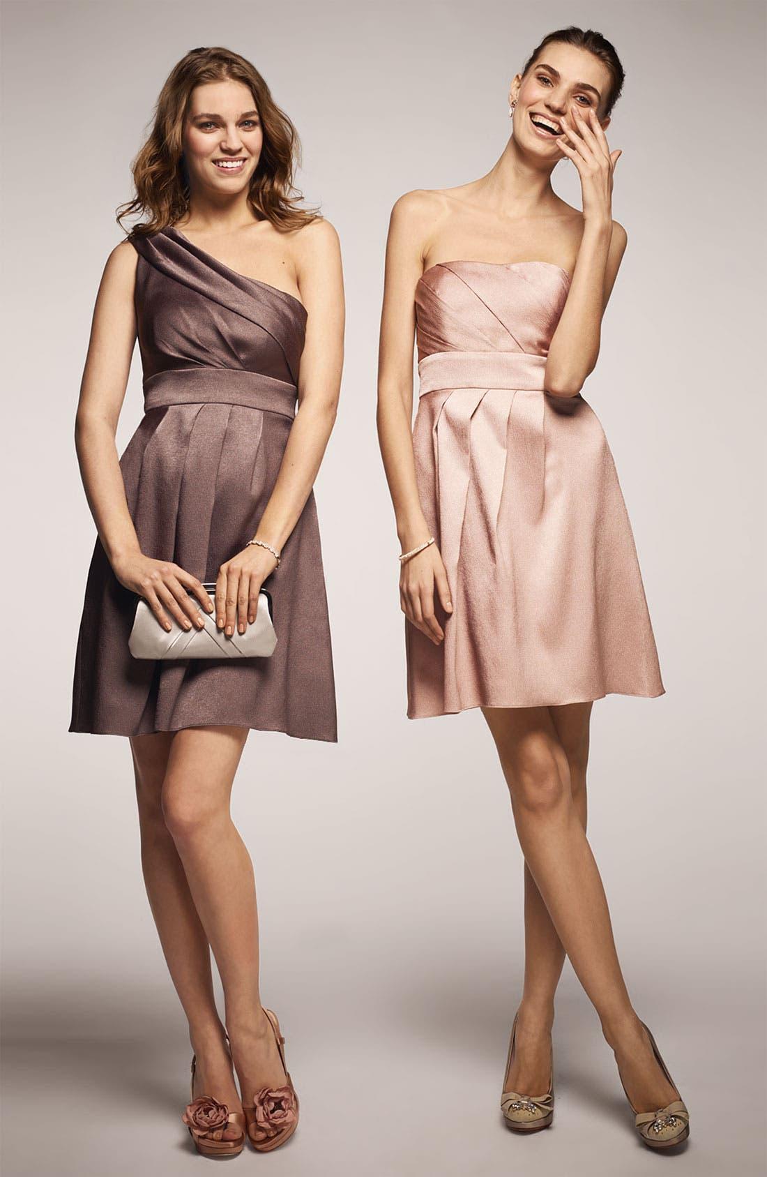 Alternate Image 3  - Jenny Yoo Hammered Satin One Shoulder Dress