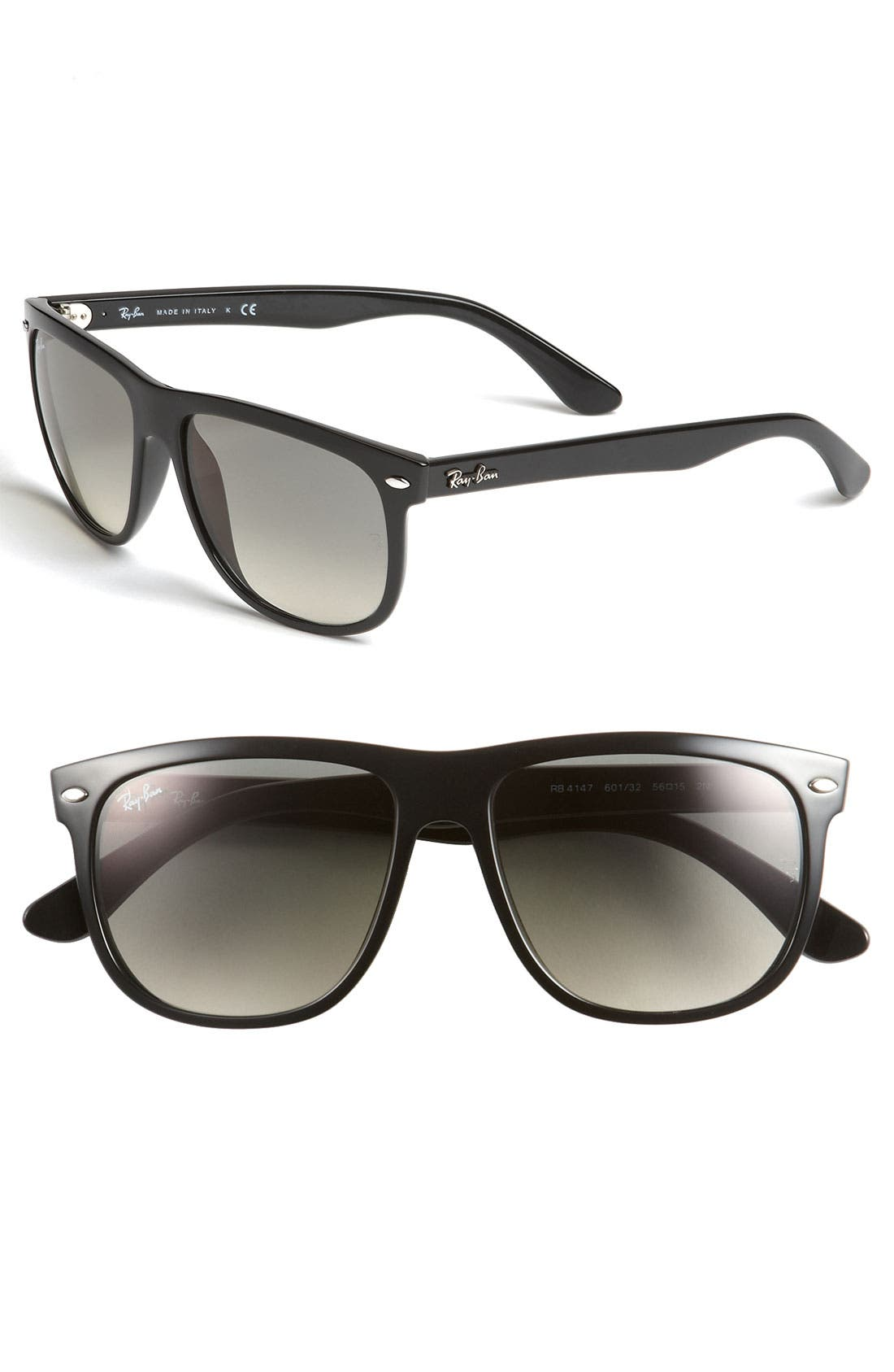Main Image - Ray-Ban 'Boyfriend Flat Top Frame' 56mm Sunglasses